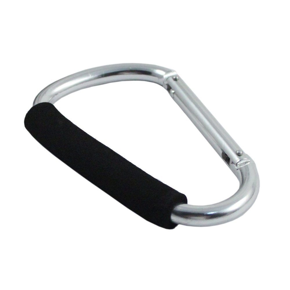 "Jumbo 6.5"" XL Carabiner Key Chain  - Chrome Silver"