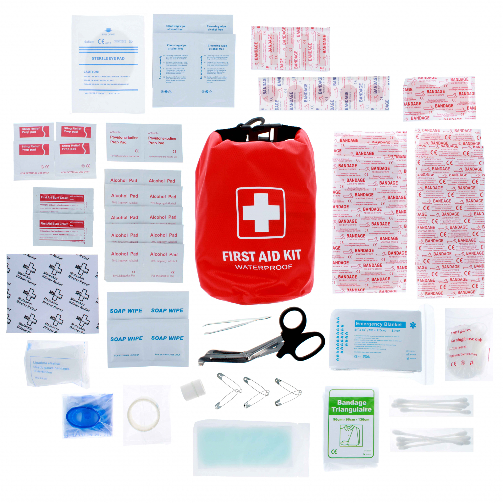 ASR Outdoor First Aid Kit in Waterproof Dry Sack 100 Pieces