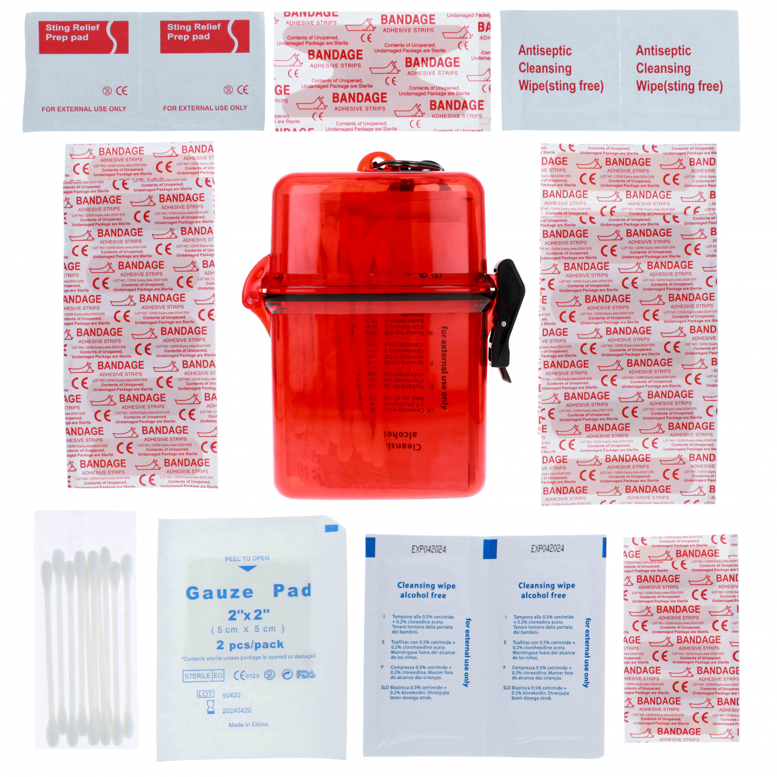 ASR Outdoor First Aid Kit in Waterproof Case 50 Pieces