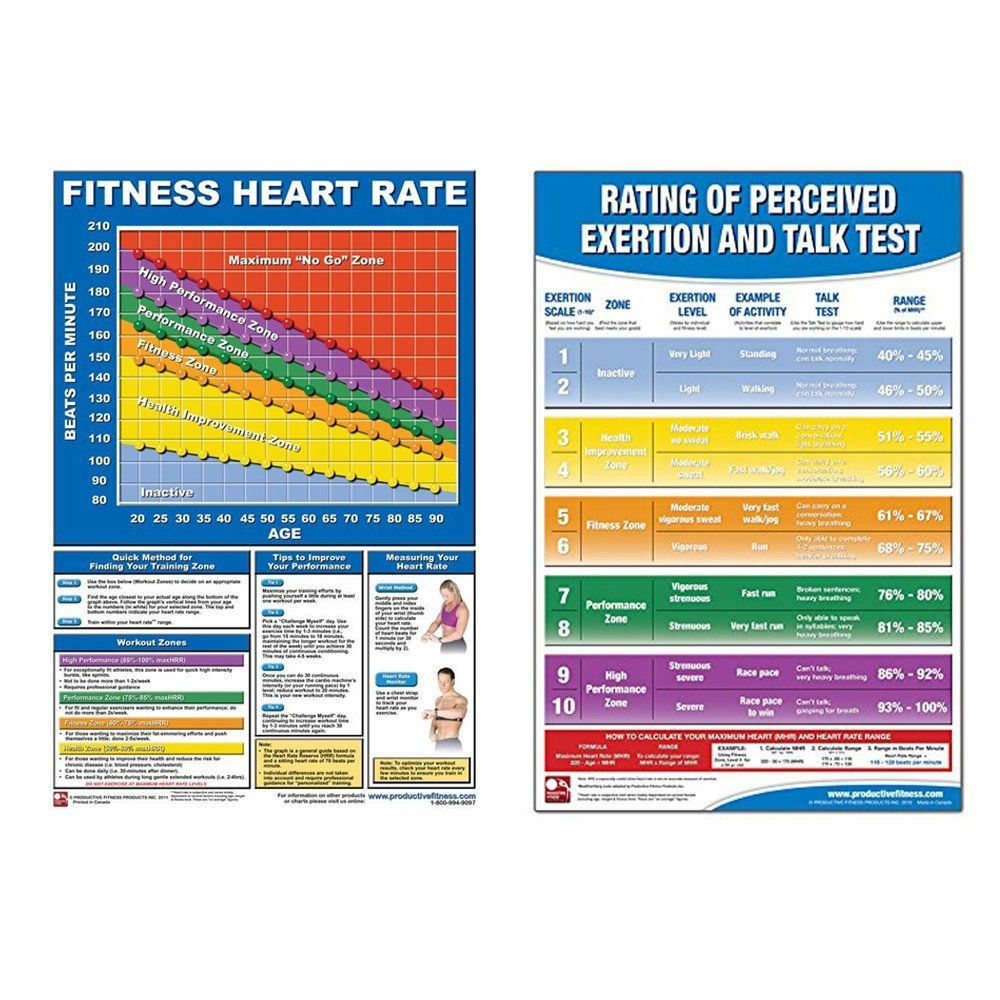 (2 Pack) Heart Rate and Perceived Exertion Posters