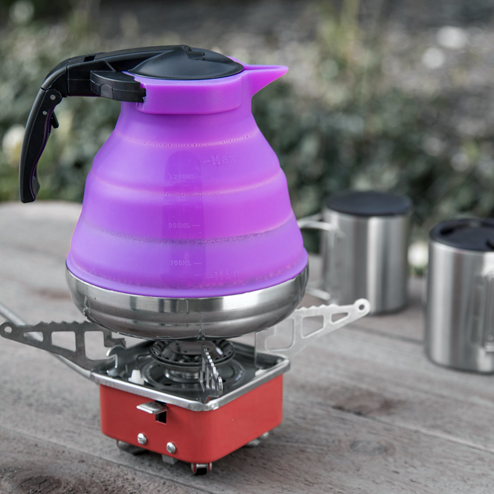 SE OD-SIL1300K-PR Collapsible Silicone Kettle