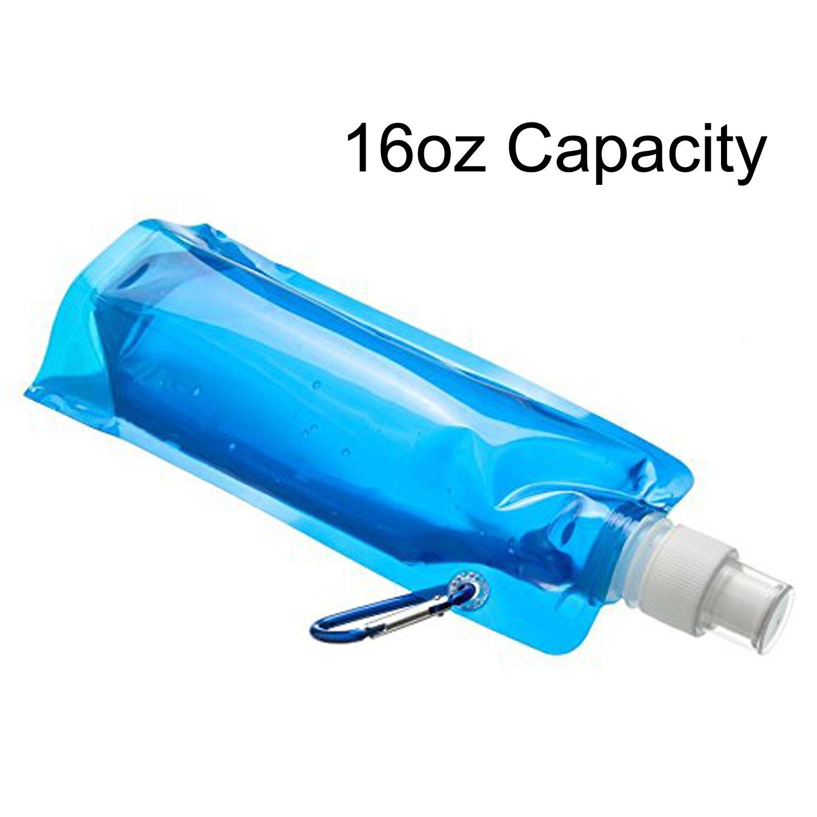 ASR Outdoor Ultralight Sports Bottle 16oz Capacity TSA Compliant Food Grade Blue