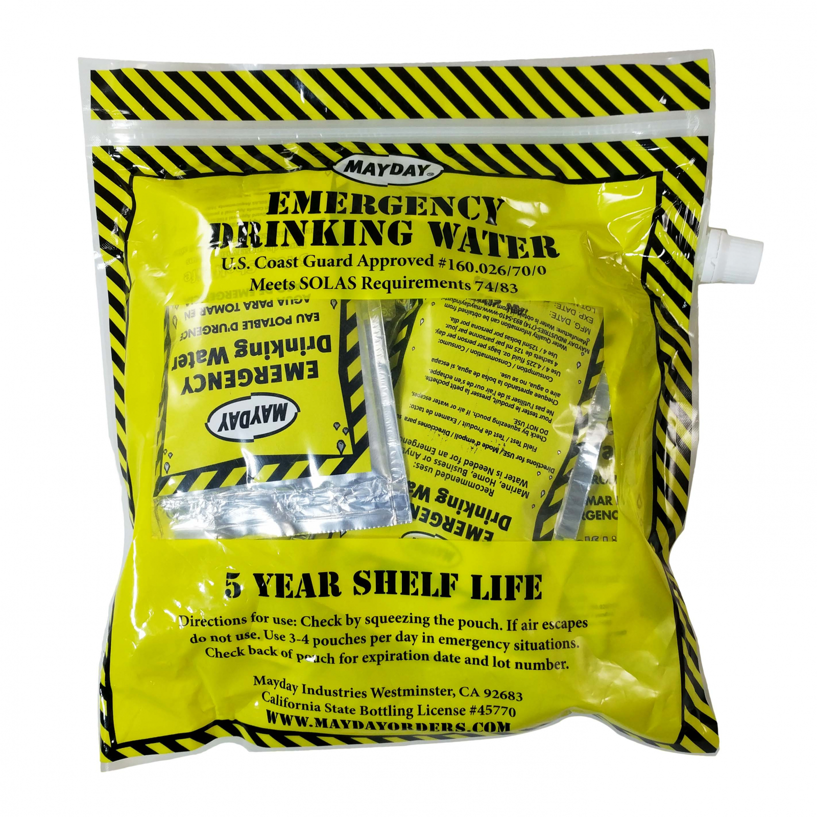 ASR Outdoor Emergency Preparation Drinking Water Pouches