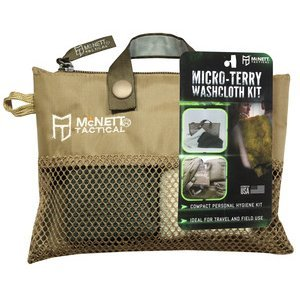 Tactical Micro-Terry Washcloth Kit for Travel Hygiene Outdoor Camping Hiking