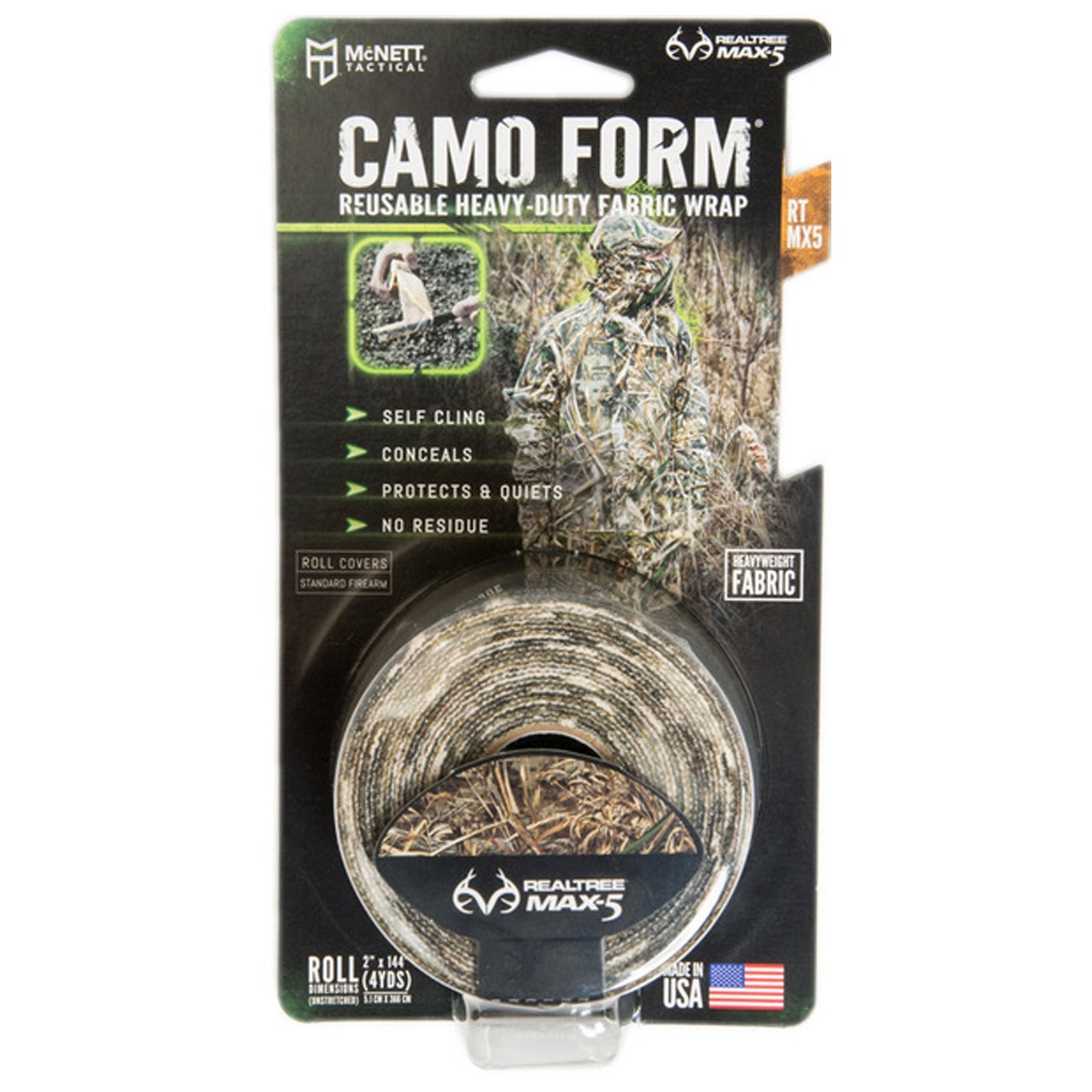 Camo Form Reusable Heavy Duty Wrap Realtree Max-5