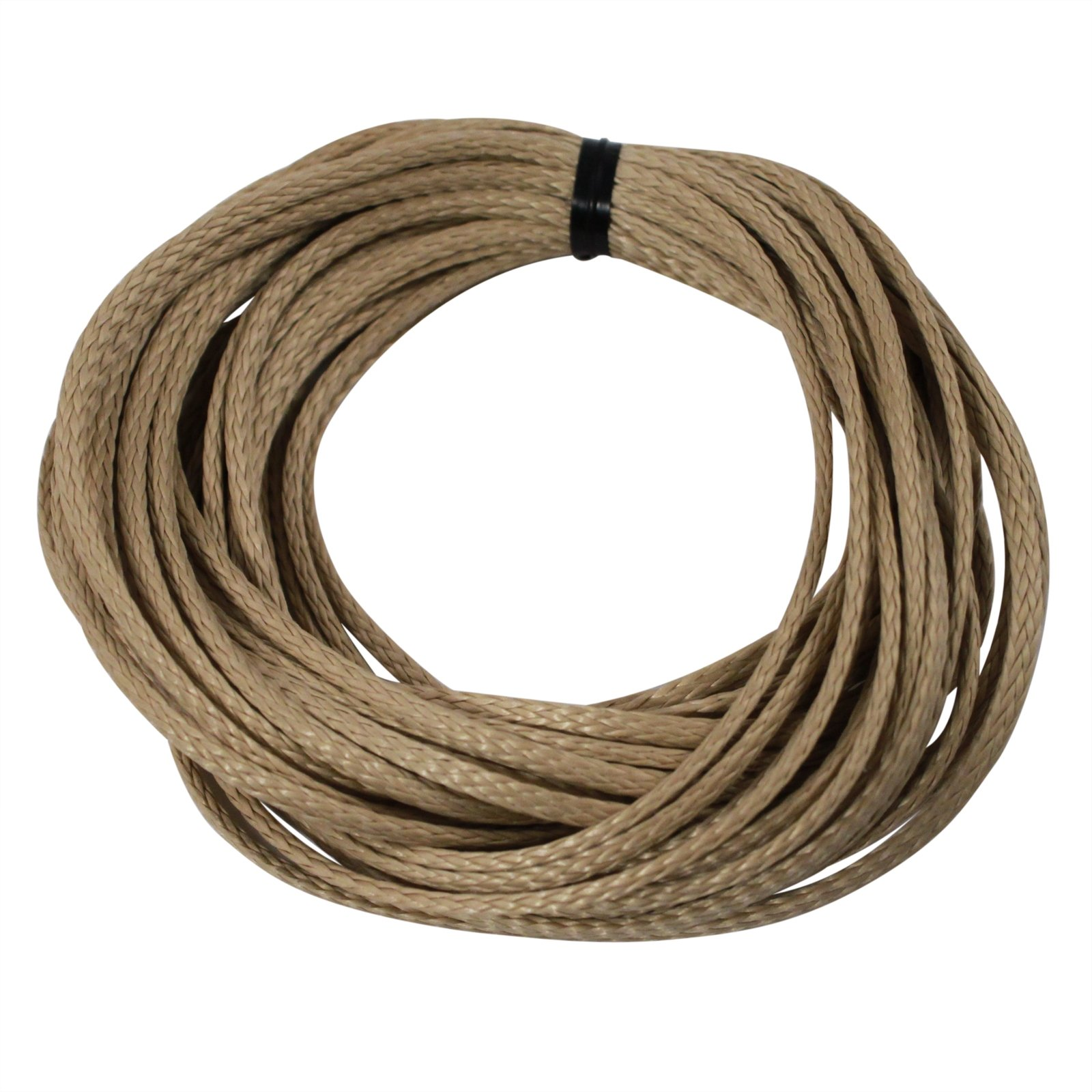 ASR Outdoor Braided Technora Survival Rope 950lb Breaking Strength 40ft Natural