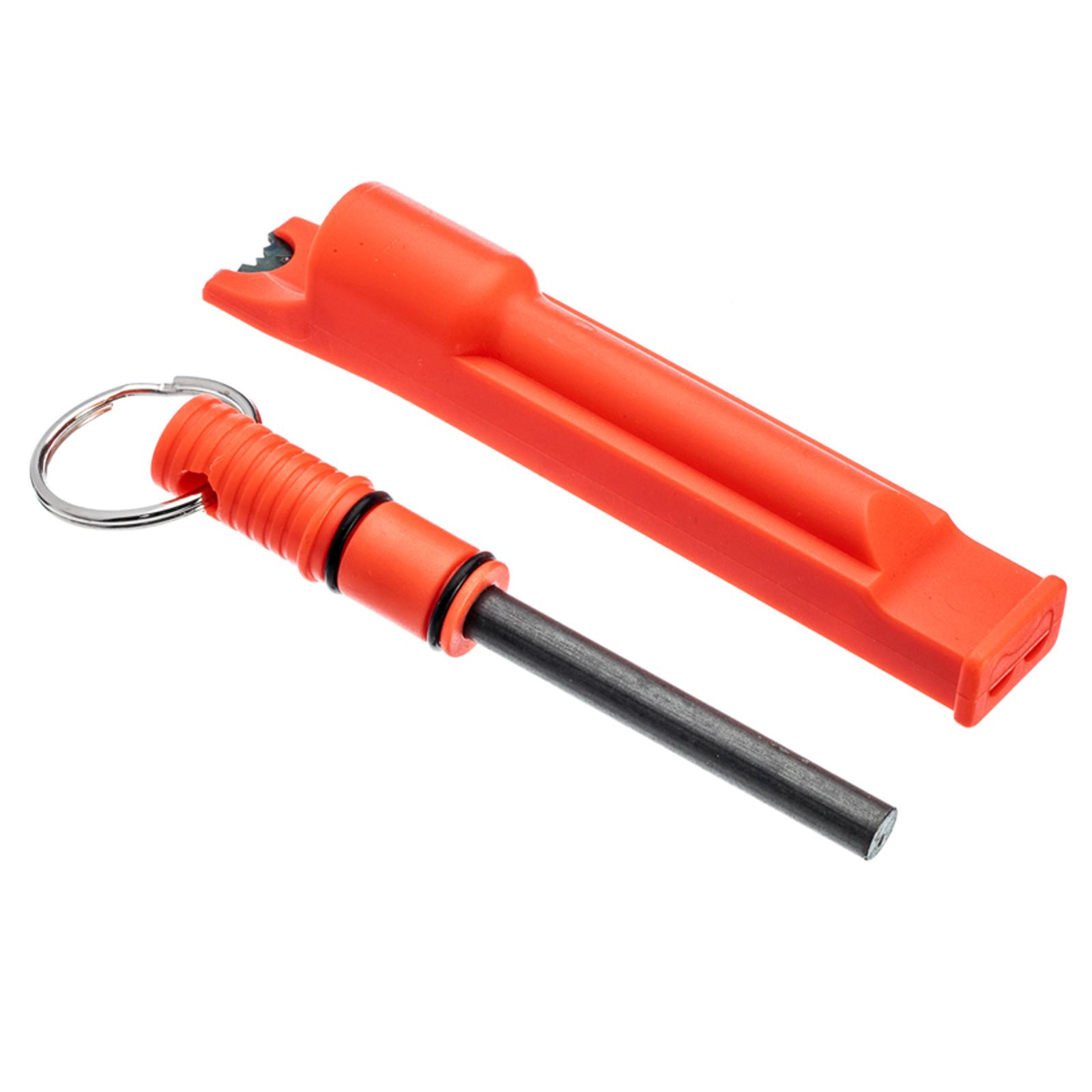 8ba7f646133 ASR Outdoor 3 in 1 Flint Rod Striker Fire Starter Whistle Every Day Carry  Orange