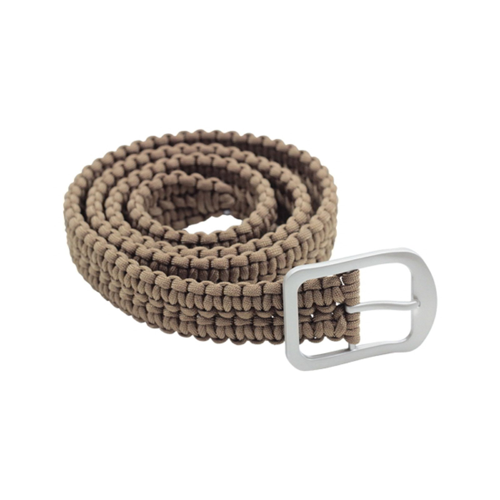 52 Inch ASR Outdoor Milspec 550 Paracord Tan Belt Stainless Steel Buckle