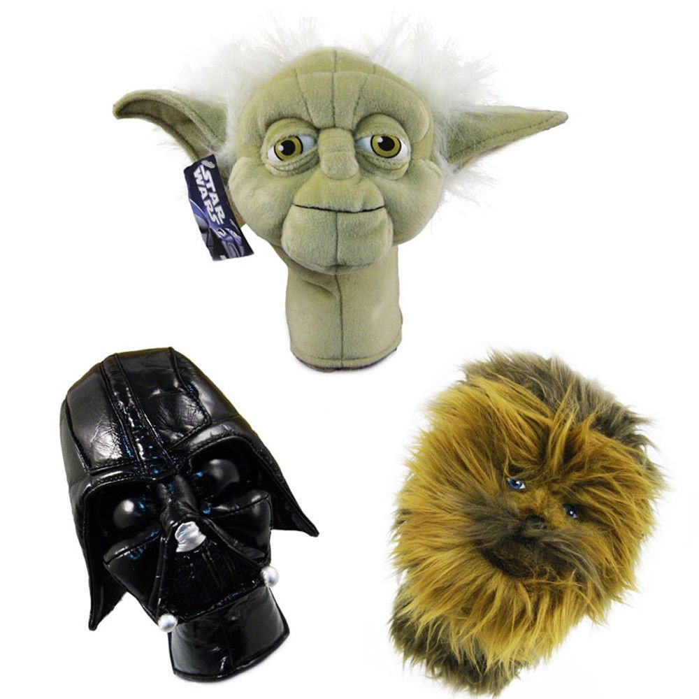 3pc Golf Head Cover Star Wars Set Hybrid Putter Sporting Goods Headcover