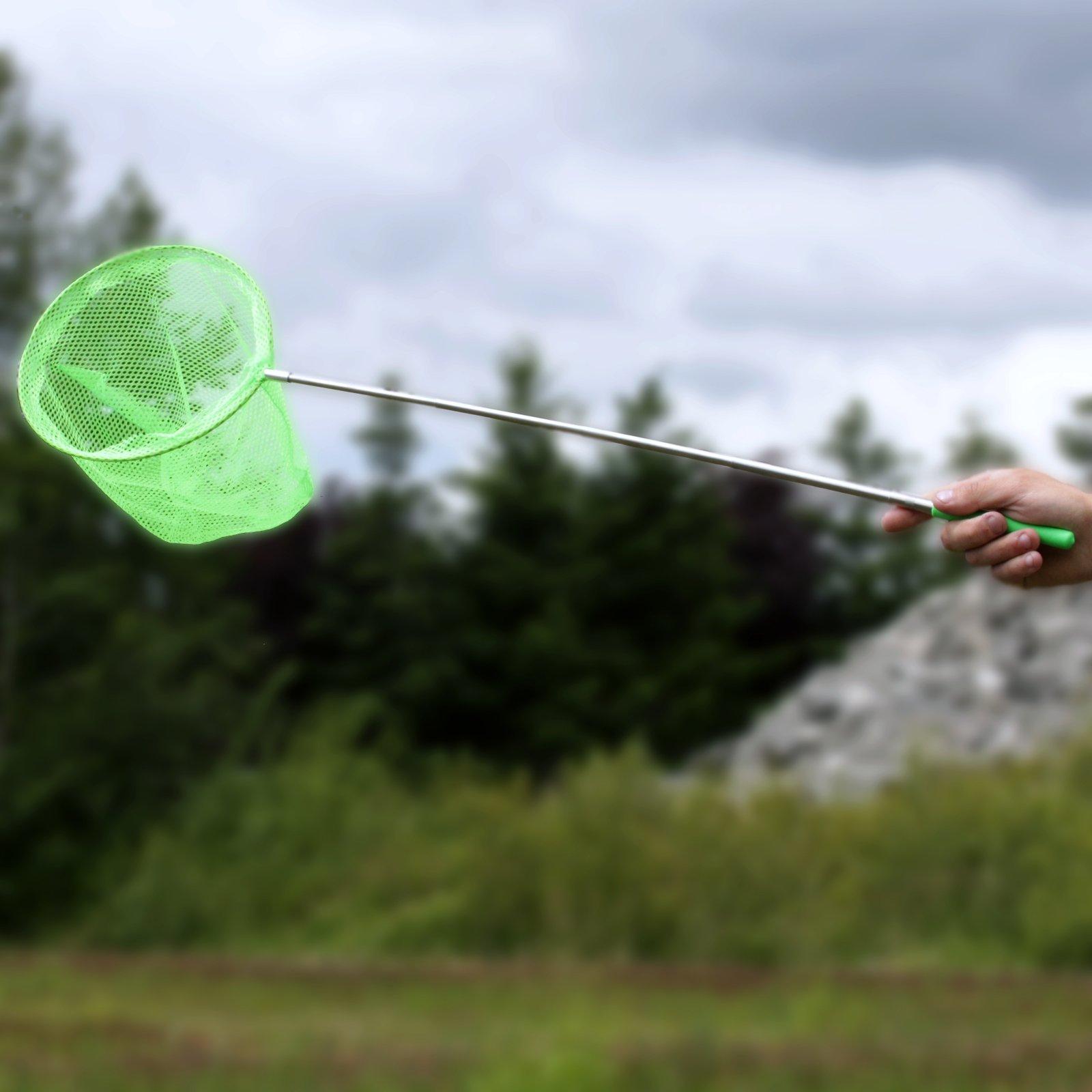 KidPlay Telescopic Butterfly Catching Mesh Net Kids Garden Toy - Green