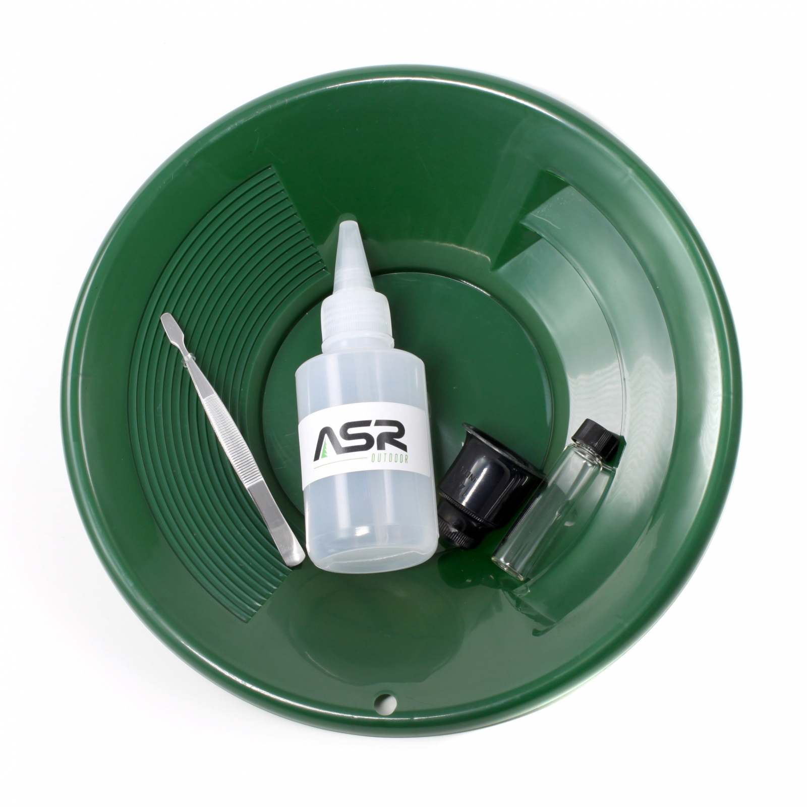 ASR Outdoor Gold Rush Gold Prospecting Kit Classifiers Vials Sifting Pans - 5pc