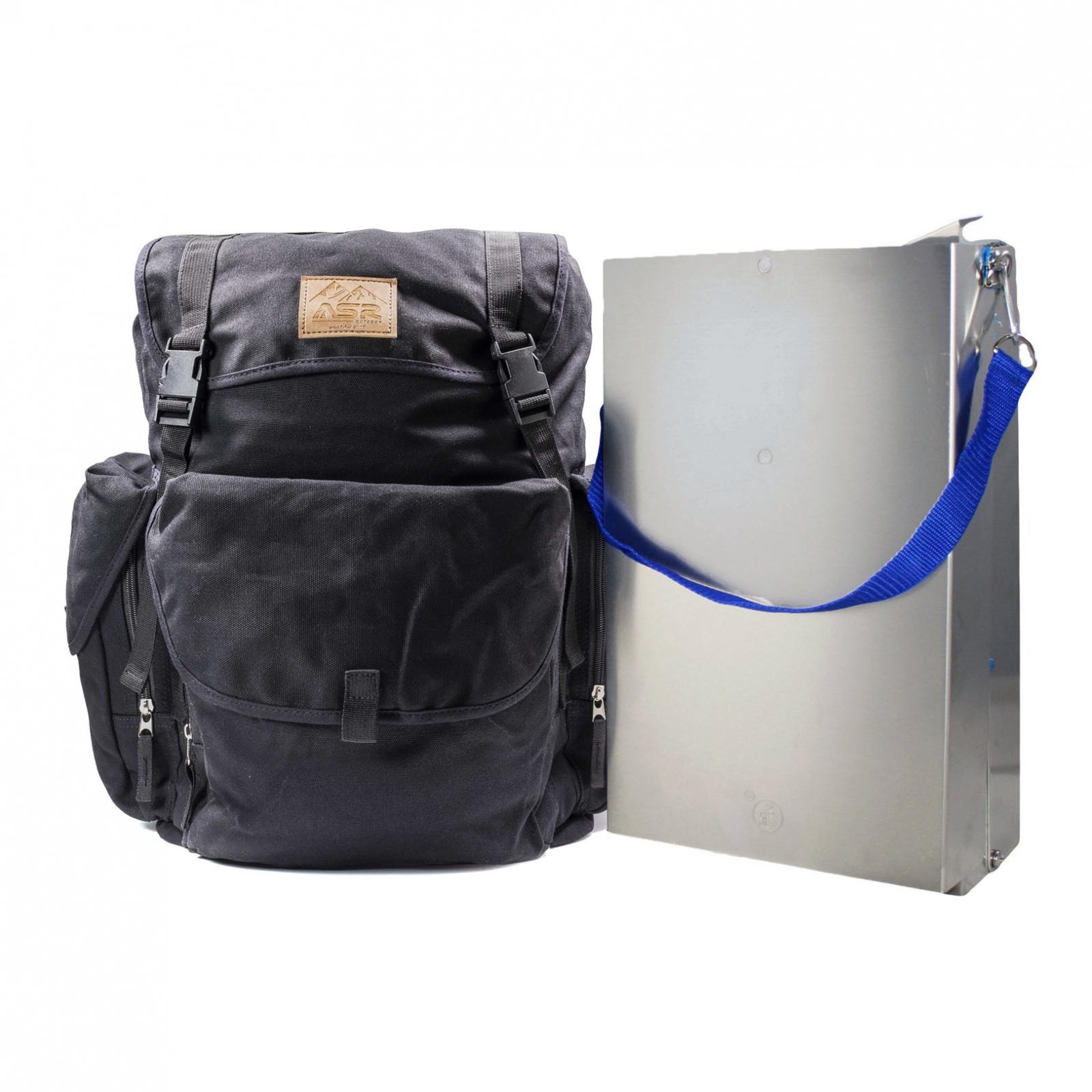 "ASR Outdoor 50"" Aluminum Folding Sluice Box for Gold Prospecting Backpack Set"