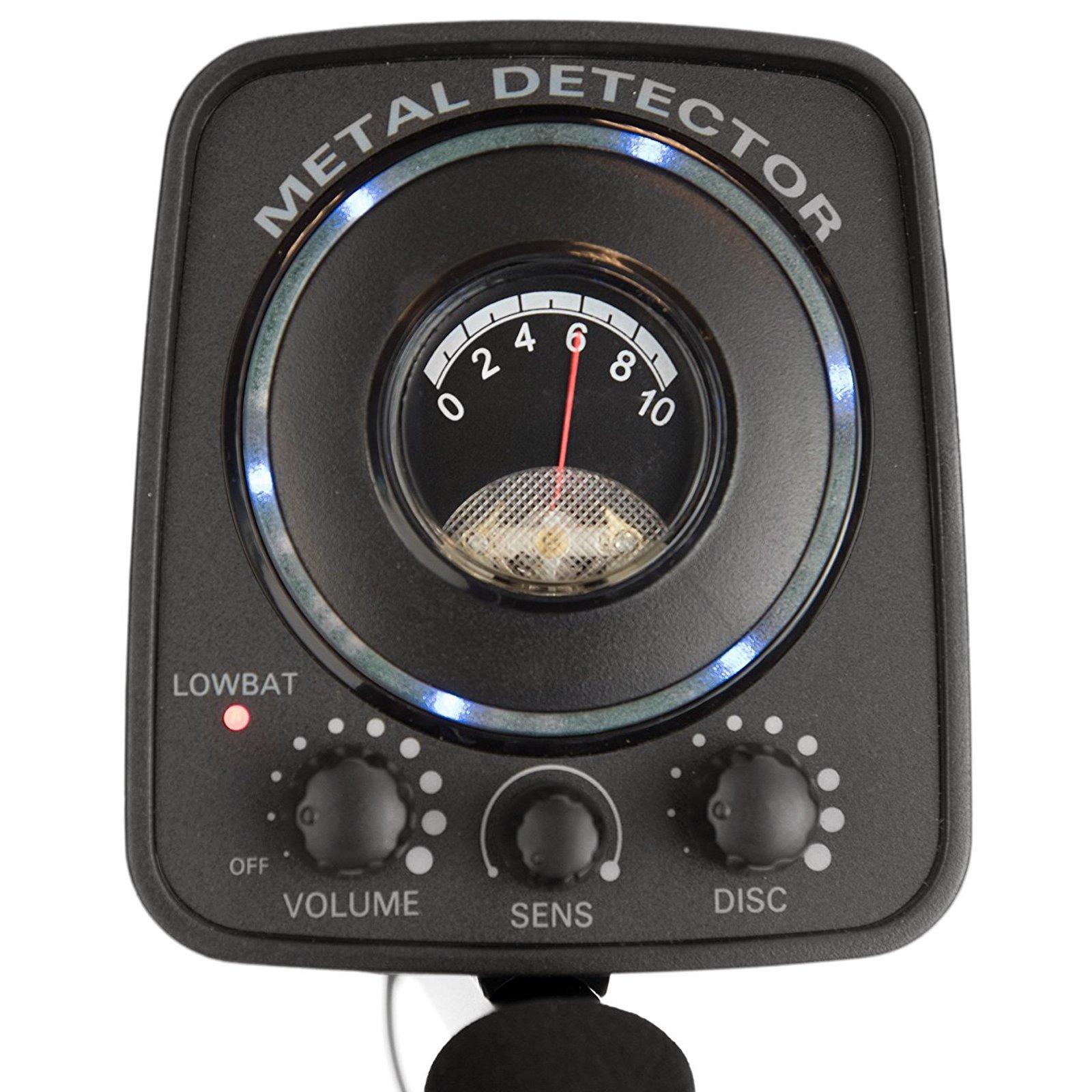 ASR Outdoor Lightweight Metal Detector Adjustable Stem Extendable Waterproof