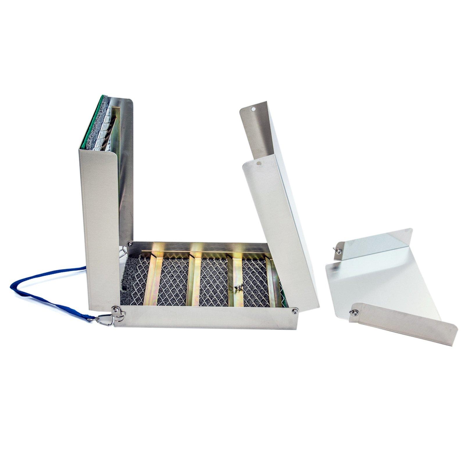 ASR Outdoor Gold Sluice Box Folding Aluminum Portable Gold Prospecting, 50 Inch