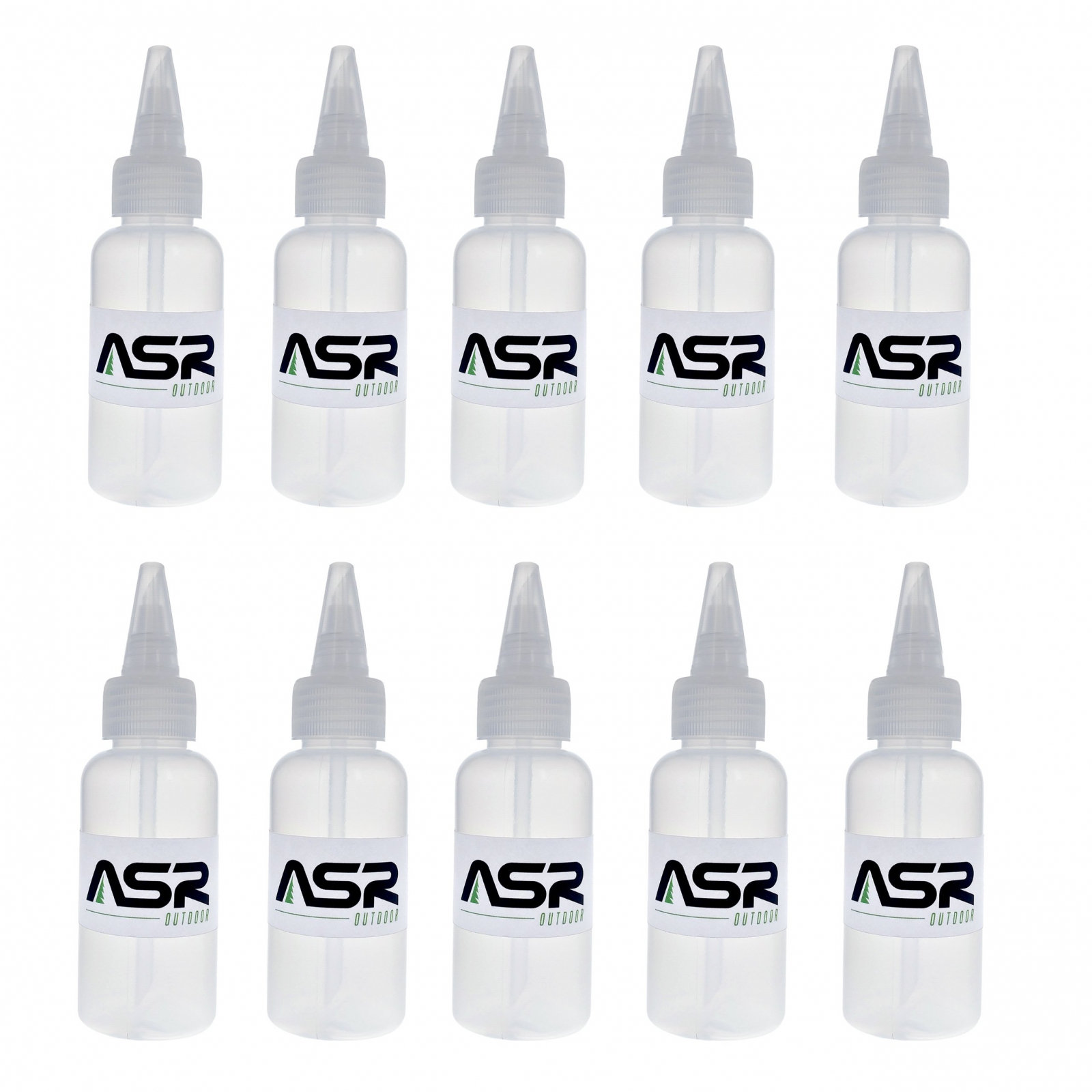 (10 Pack) ASR Outdoor 5in Plastic Heavy Duty Gold Snifter Bottle with Nozzle