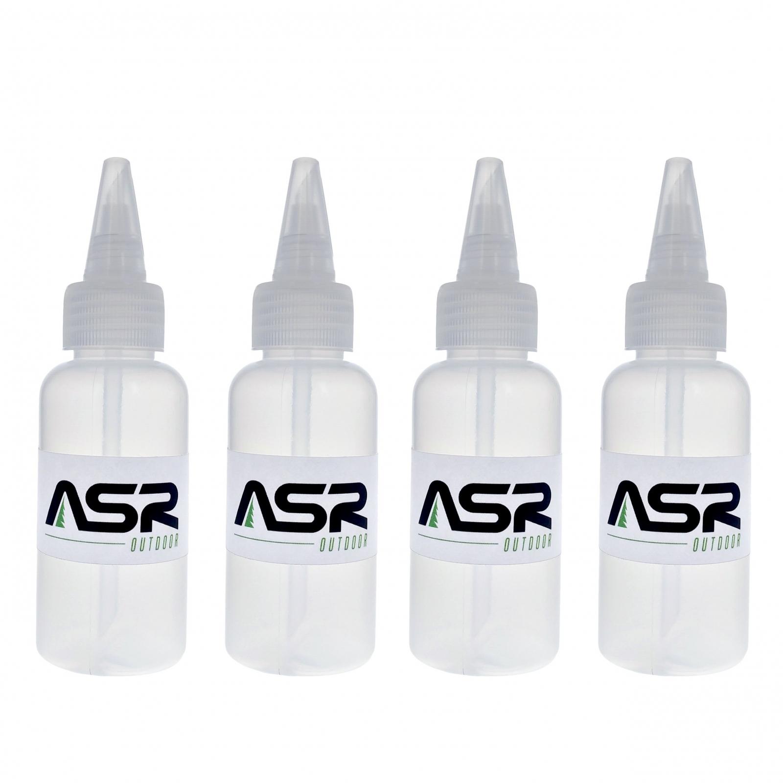 "ASR Outdoor 5"" Plastic Heavy Duty Gold Snifter Bottle w/ Nozzle (4 Pack)"