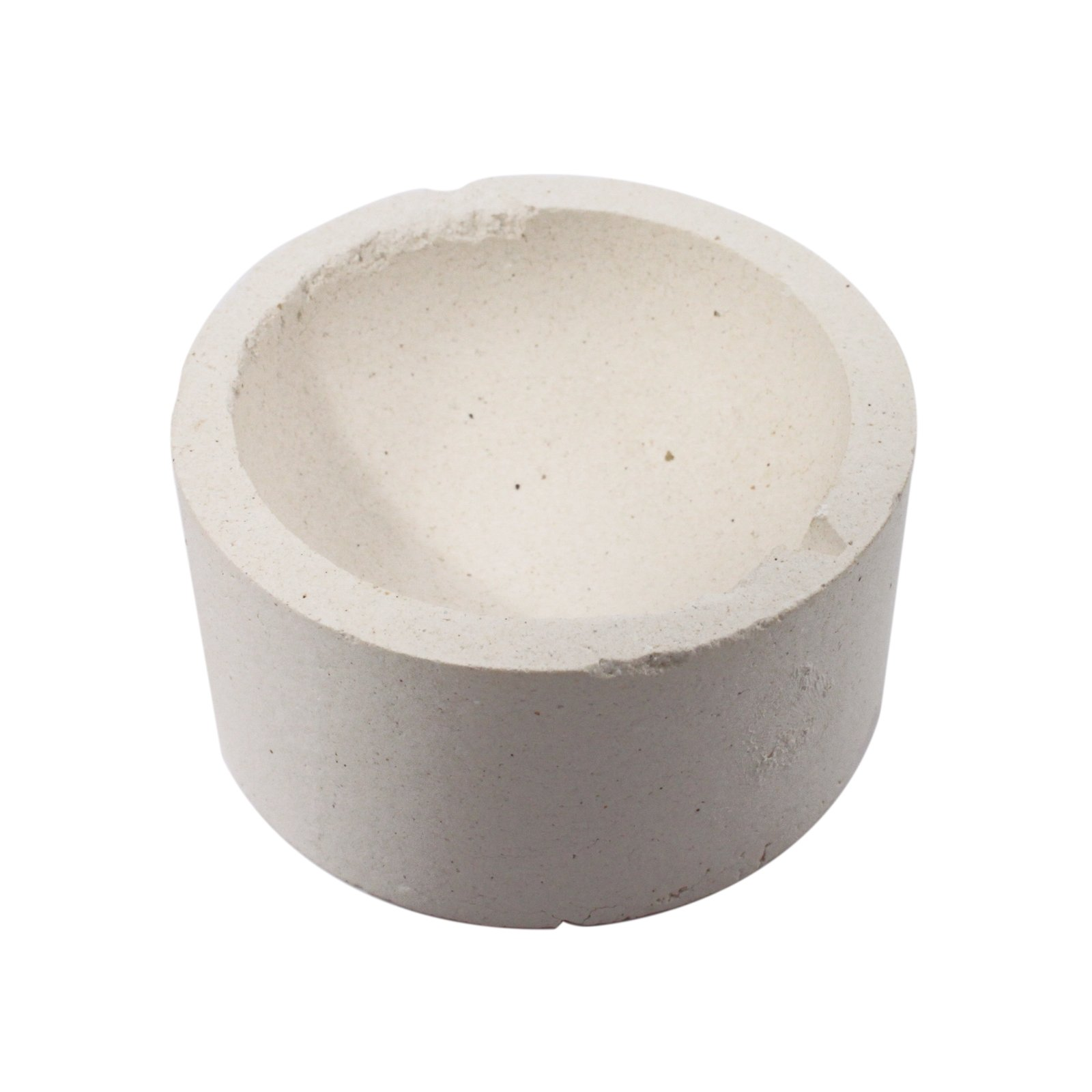 "3"" Alumina Ceramic Pot Flat Bottom"