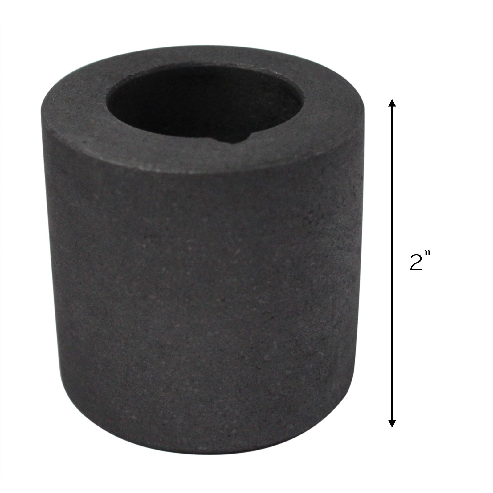 Universal Tool Graphite Crucible for Melting Gold and Silver - 2 x 2 Inch