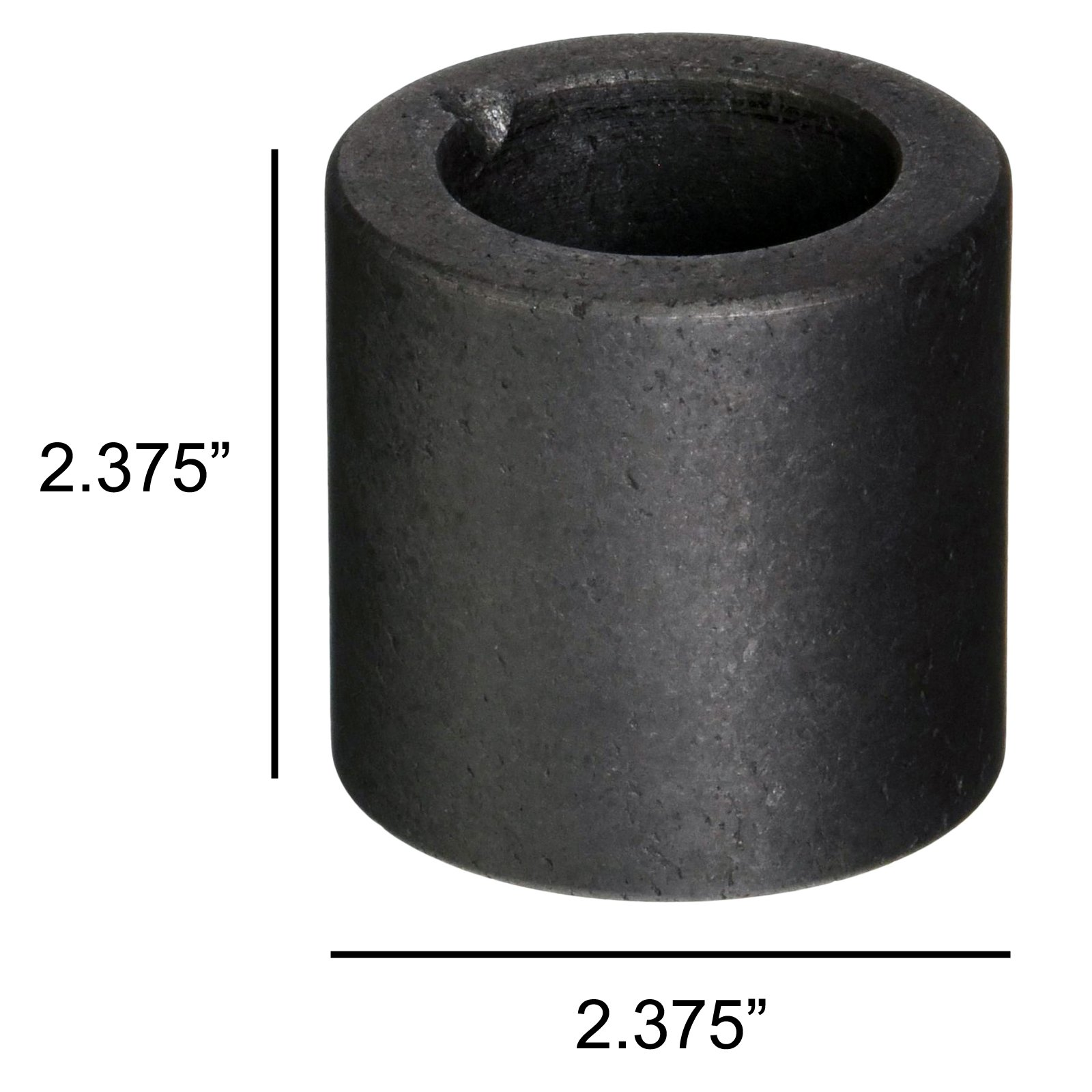 Universal Tool Graphite Crucible for Melting Gold and Silver 2.375 by 2.375 Inch