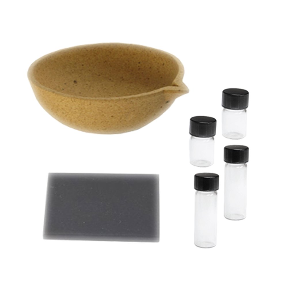 Gold testing stone vial and melting pot kit
