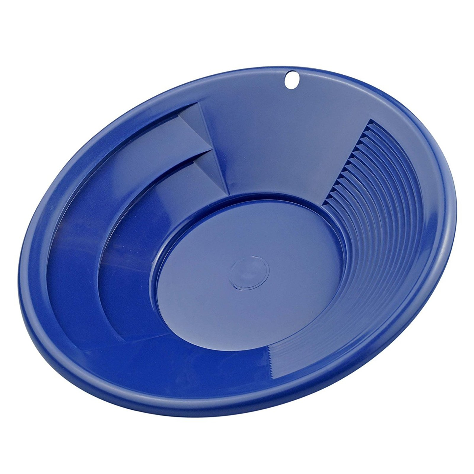 ASR Outdoor Blue 10 Inch Gold Mining Pan for Gold Prospecting 2 Riffle Types