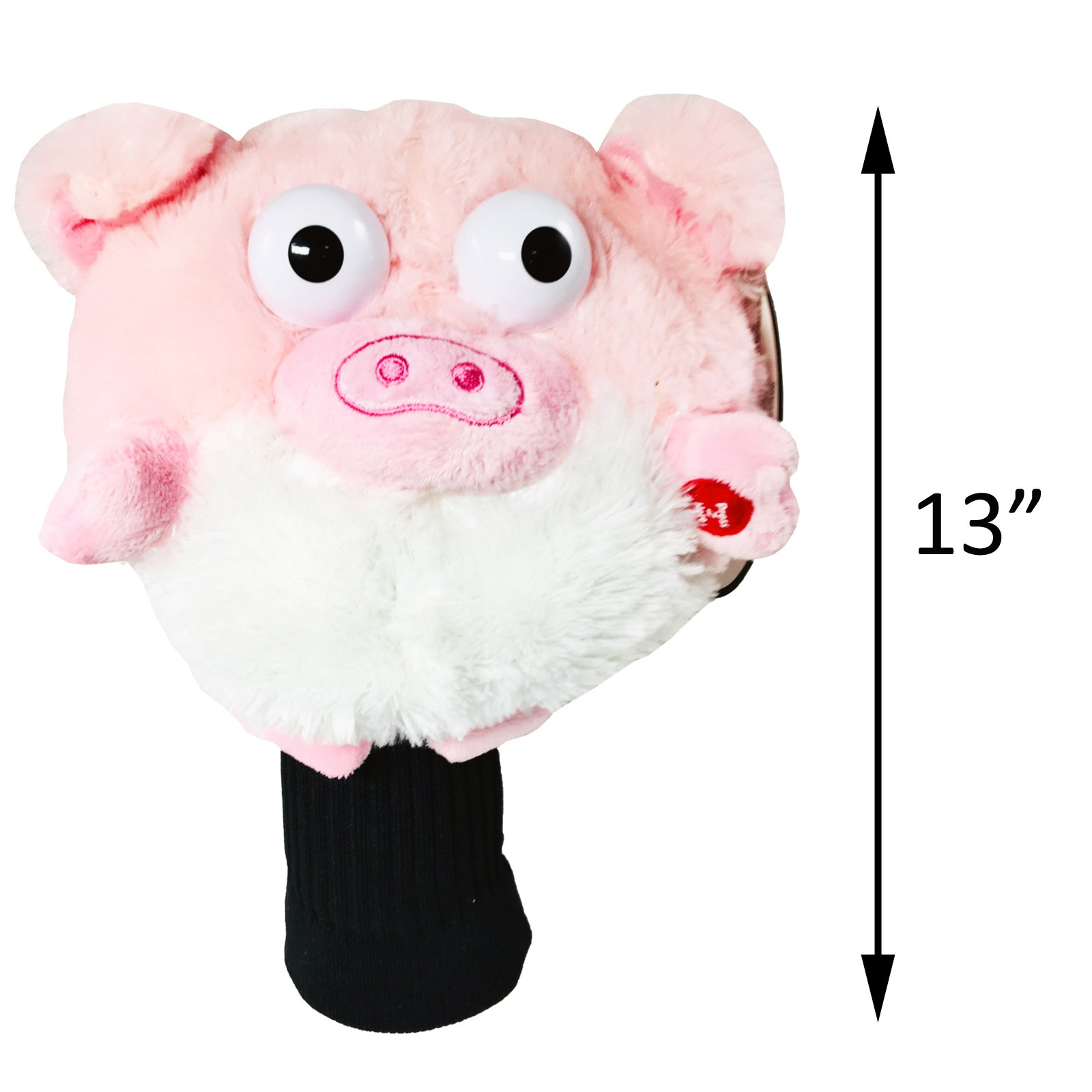 Golf Pals Goofballs Pig Head Cover Spinning Eyes Sounds