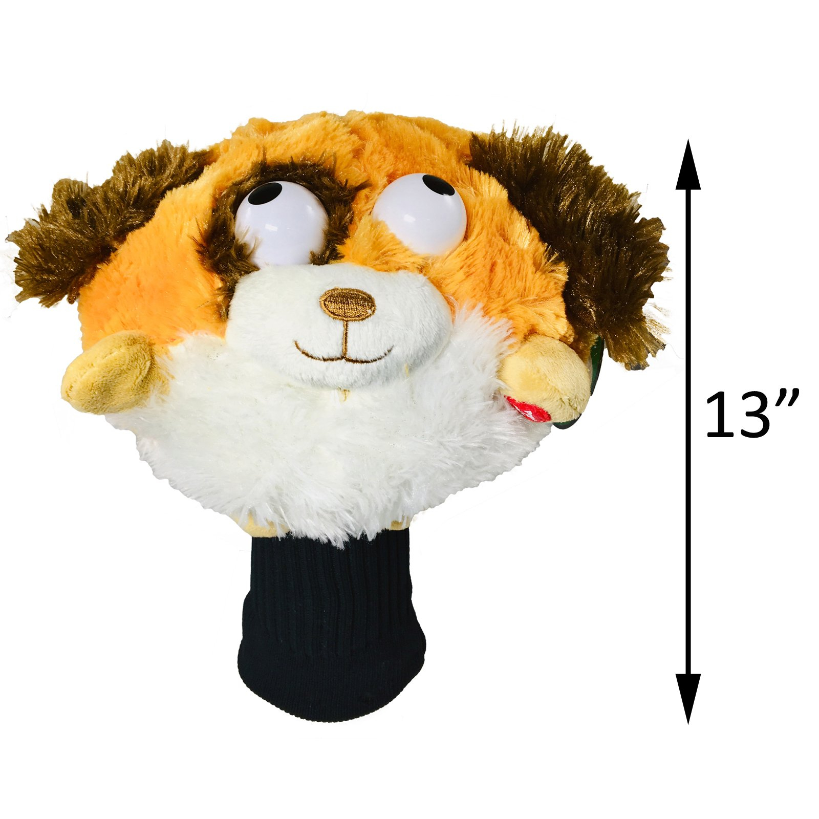 Golf Pals Goofballs Dog Head Cover Spinning Eyes Sounds