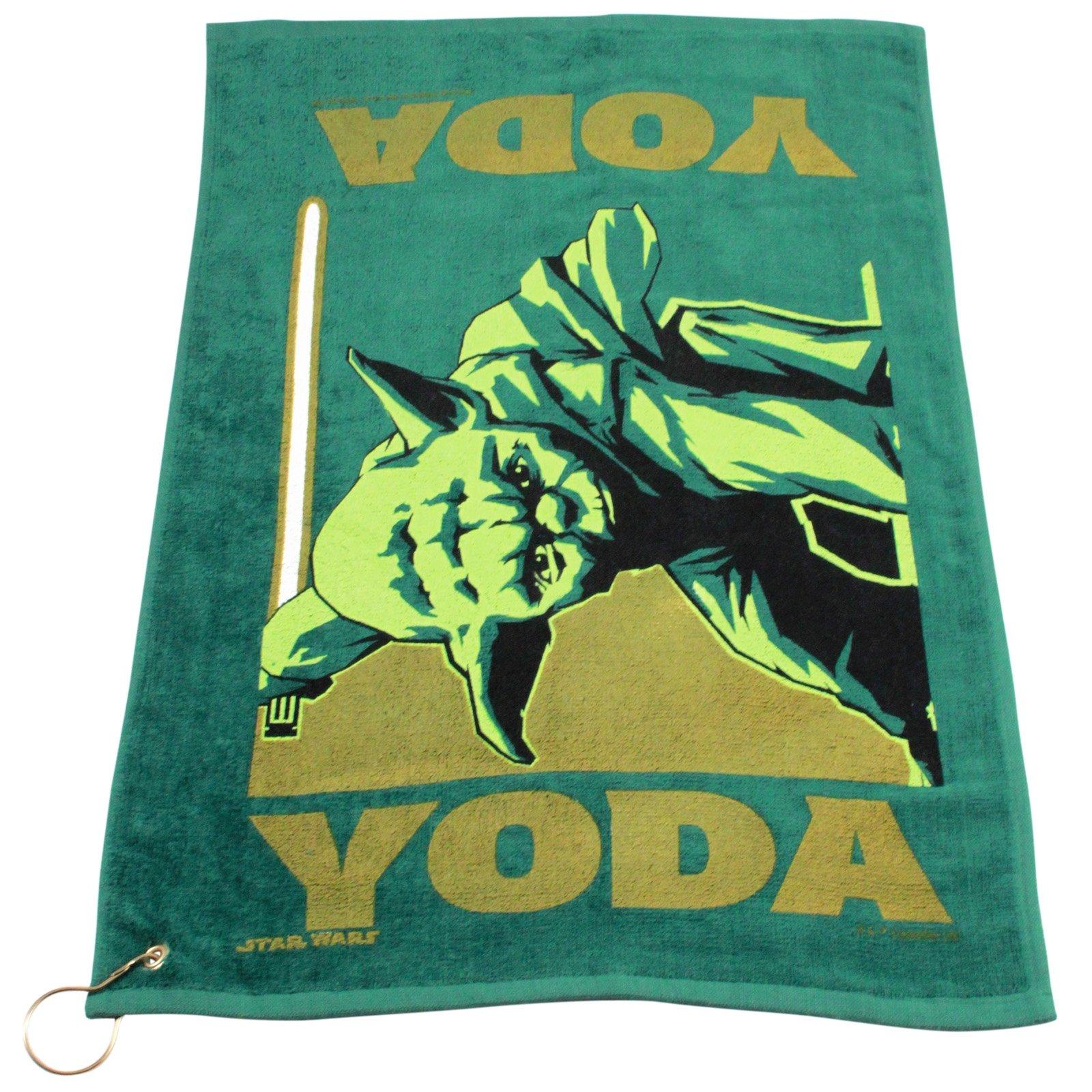 Star Wars Yoda Green Golf Towel with Corner Grommet