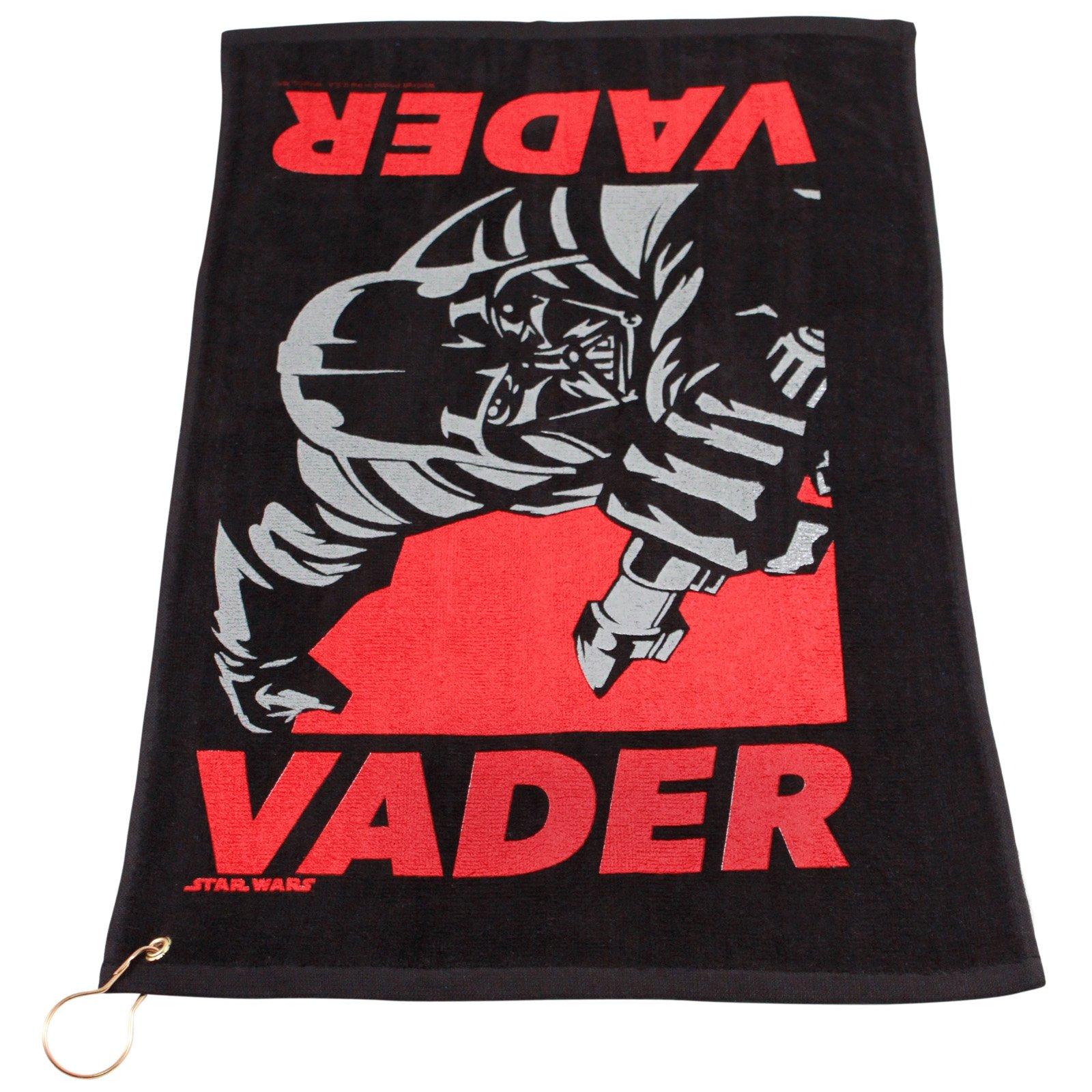 Star Wars Darth Vader Black Golf Towel with Corner Grommet