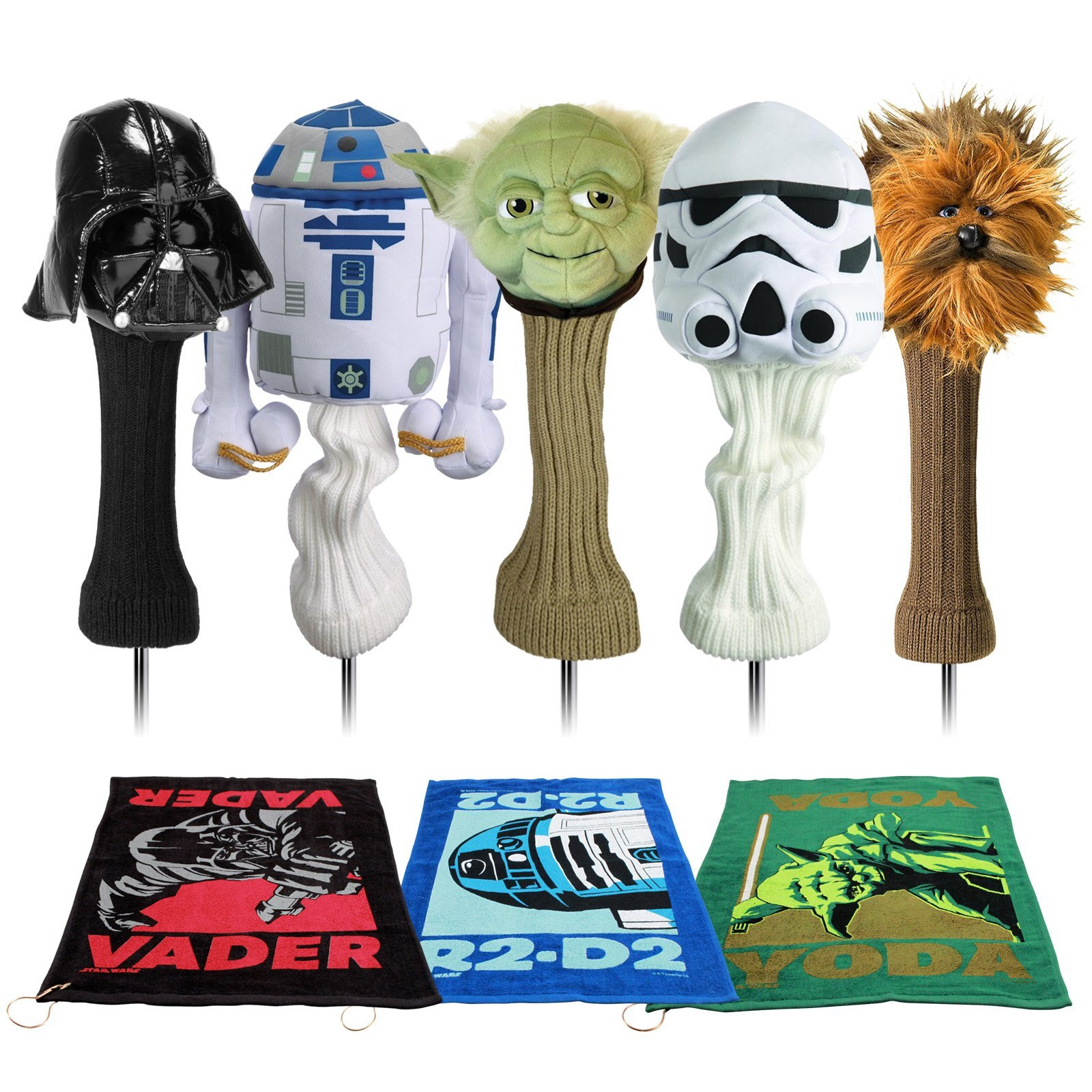 Star Wars Classic Trilogy Set Golf Head Covers & Towel Set