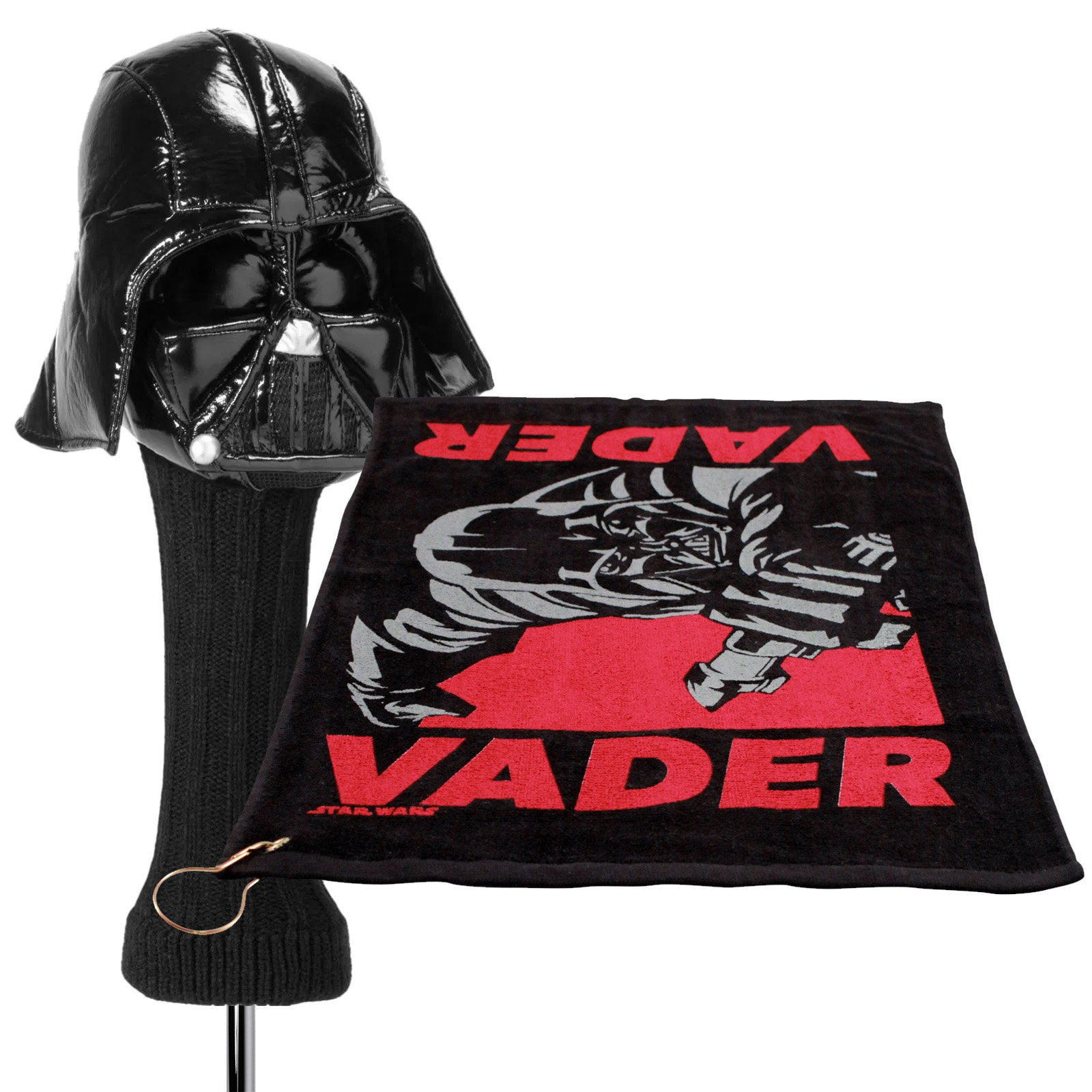 Star Wars Darth Vader 460cc Golf Head Cover and Towel with Corner Grommet Set
