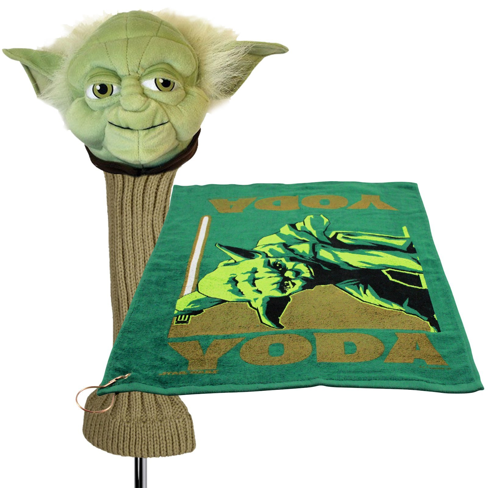 Star Wars Yoda 460cc Golf Head Cover and Towel with Corner Grommet Set
