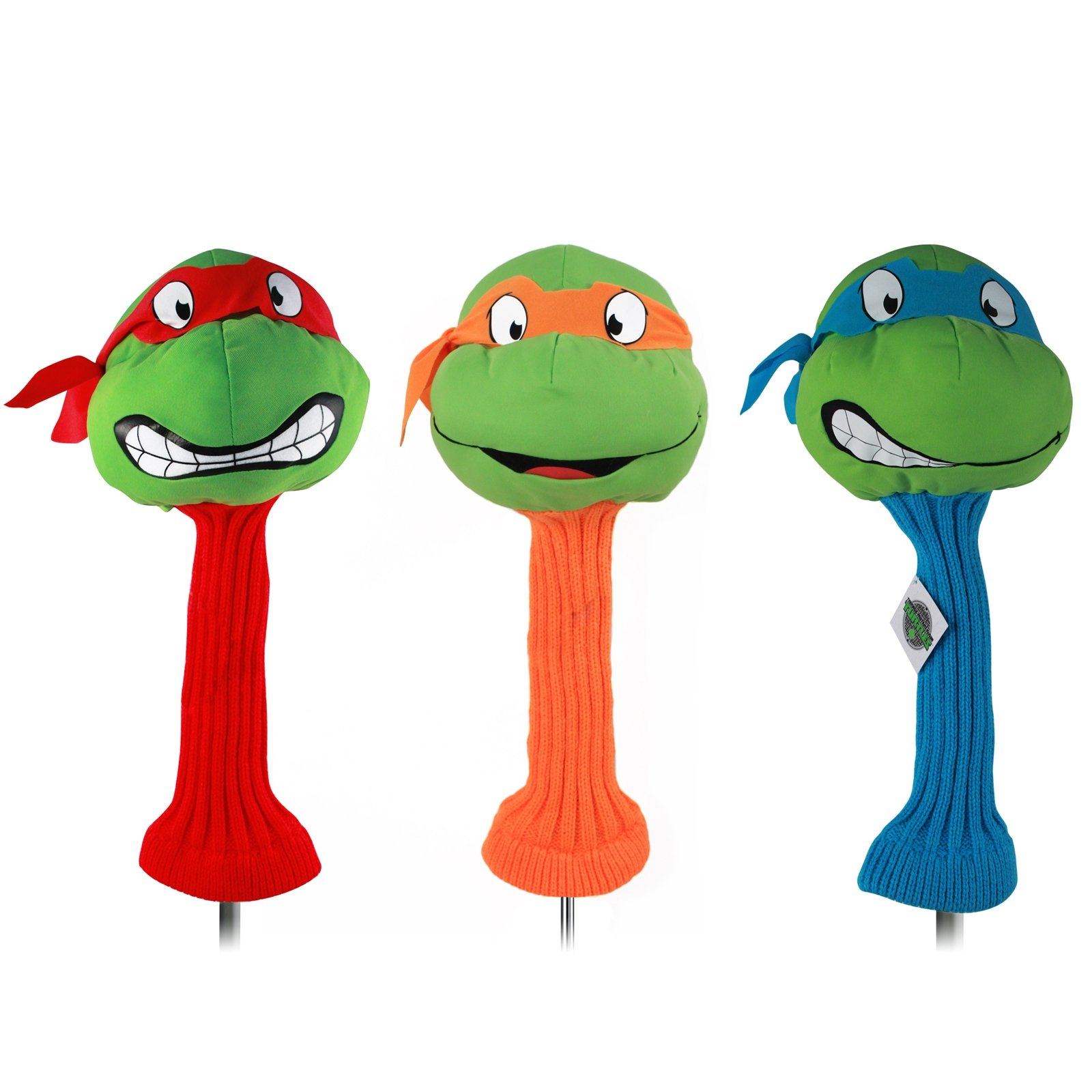 TMNT Collectible 3pc Golf Headcover Set with Mikey Raph and Leo