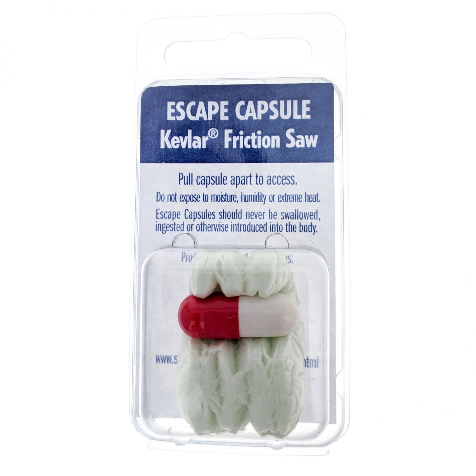 Shomer-Tec Escape Capsule Covert Kevlar Friction Saw Concealed Survival Tool