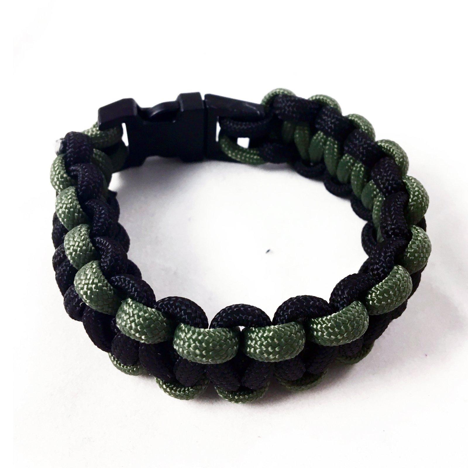 ASR Outdoor - Paracord Bracelet - OD Green and Black