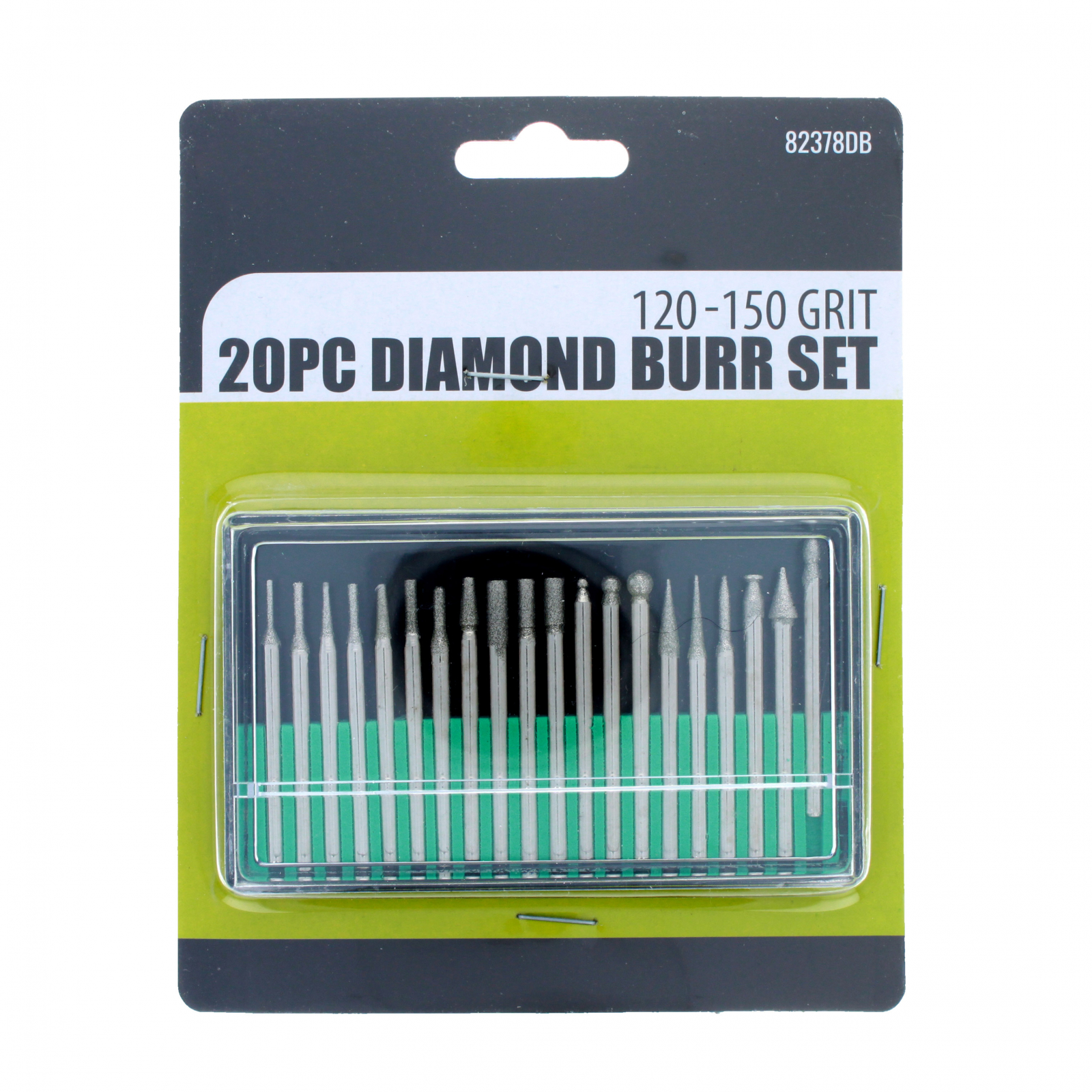 Universal Tool Assorted Diamond Burr Set 120-150 Grit 20pcs