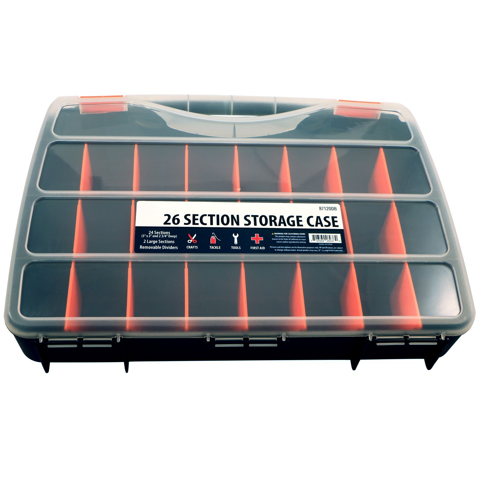 26 Compartment Small Bin Storage Container Locking Lid Portable Case  sc 1 st  Deals Only & Universal Tool 26 Compartment Heavy Duty Storage Case