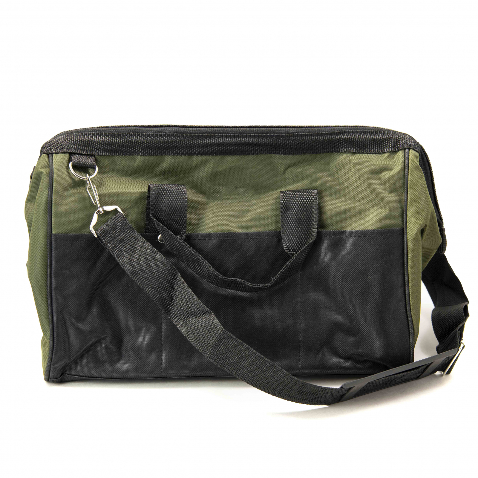 ToolTreaux Nylon Storage Tool Bag with Side Pockets - Black
