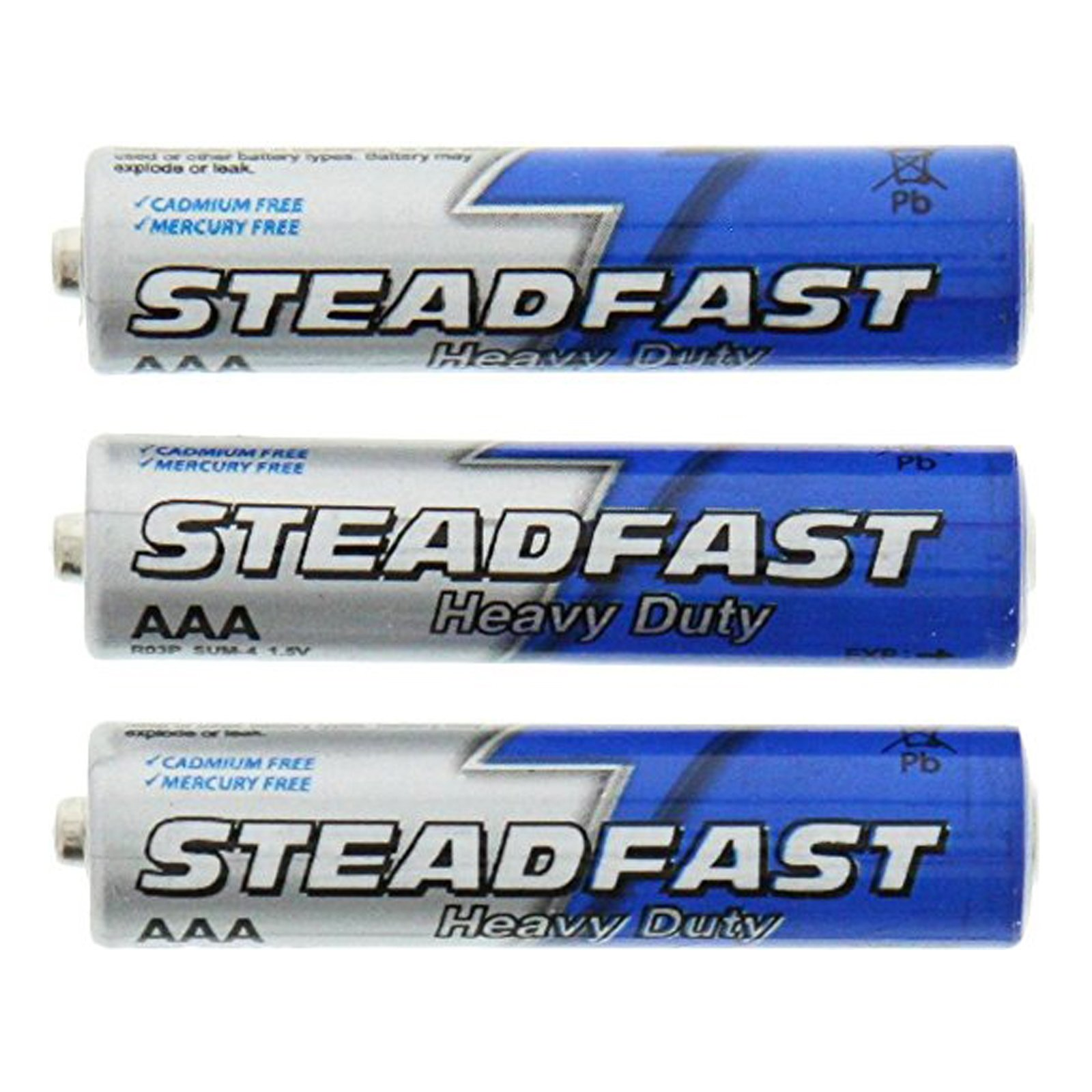 Heavy Duty AAA Steadfast Batteries 3pk