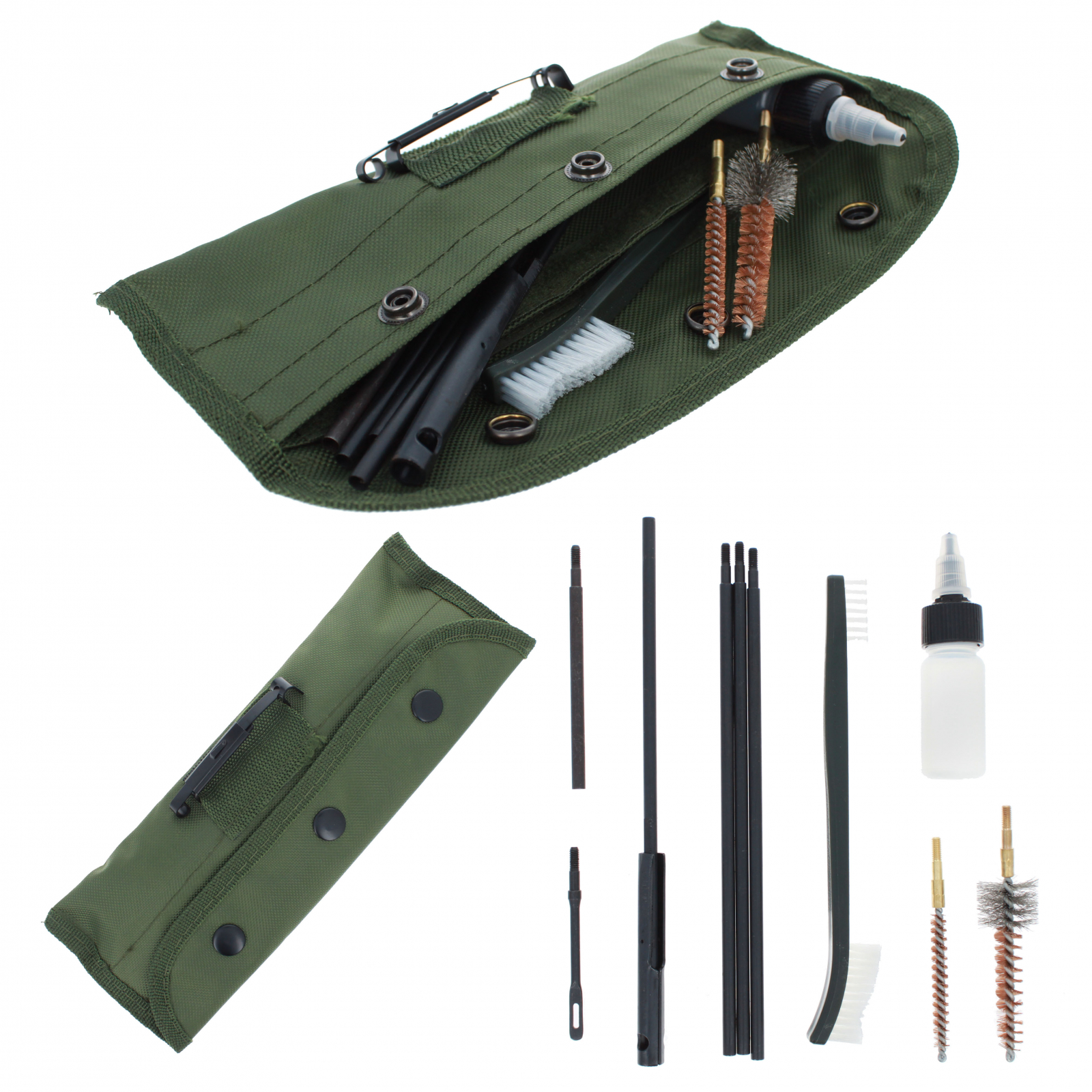 ASR Outdoor Gun Cleaning Kit 10 Piece Set in Canvas Pouch