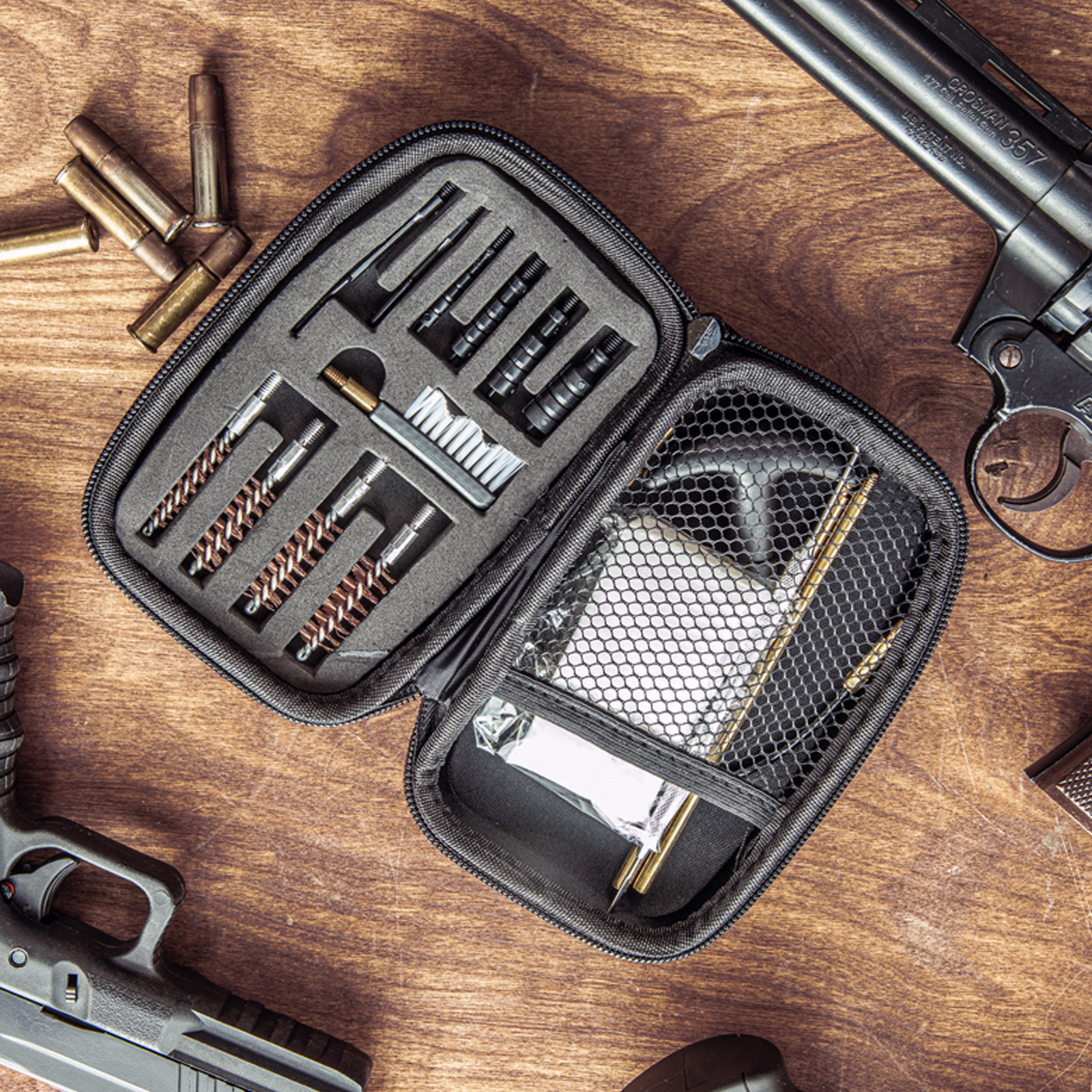 ASR Outdoor 66 Piece Pistol Cleaning Kit In Zip Shell Case