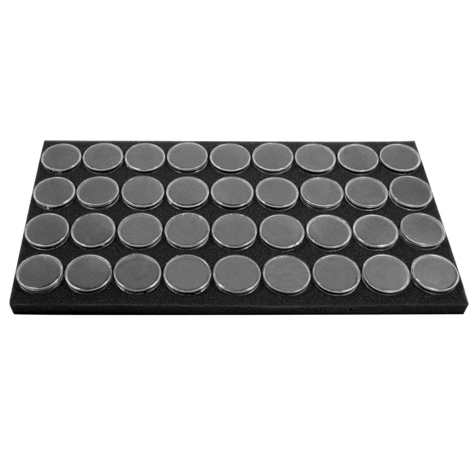 "SE GJ836BK Round Gem Holder in a Black Foam (36 Piece), 1-1/2"" x 3/4"""