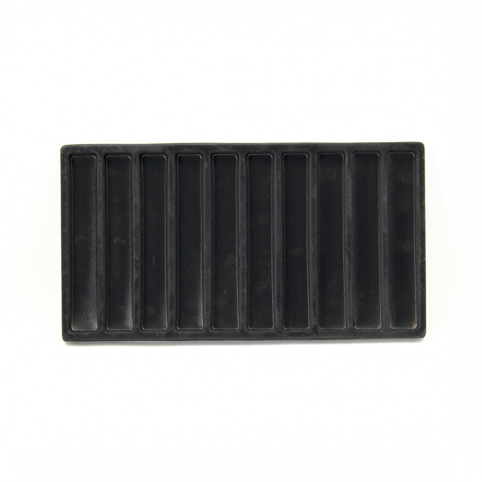 Tooltreaux 10 Section Flocked Black Liner Tray for Jewelry