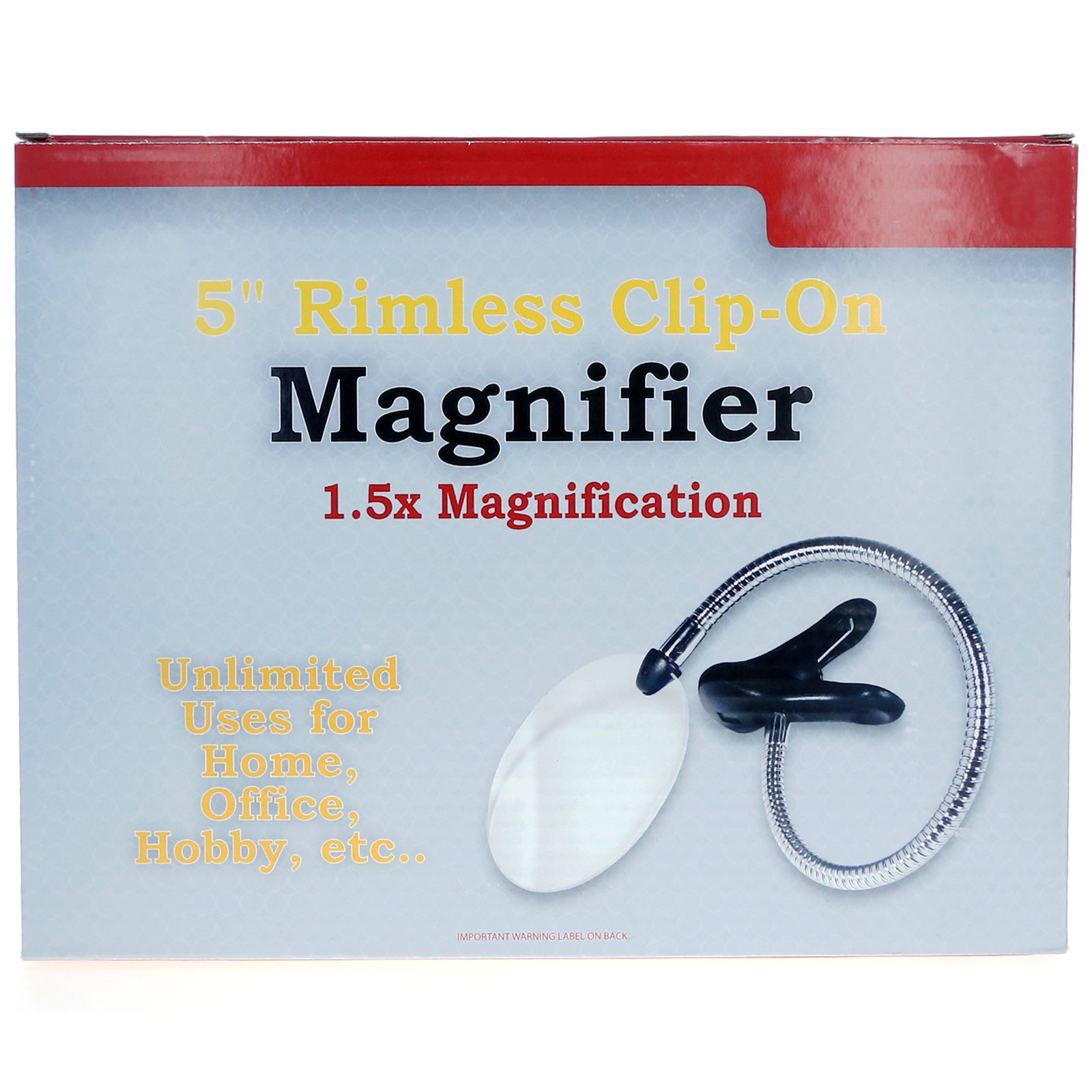Rimless Clip-on Magnifier with Bendable Neck
