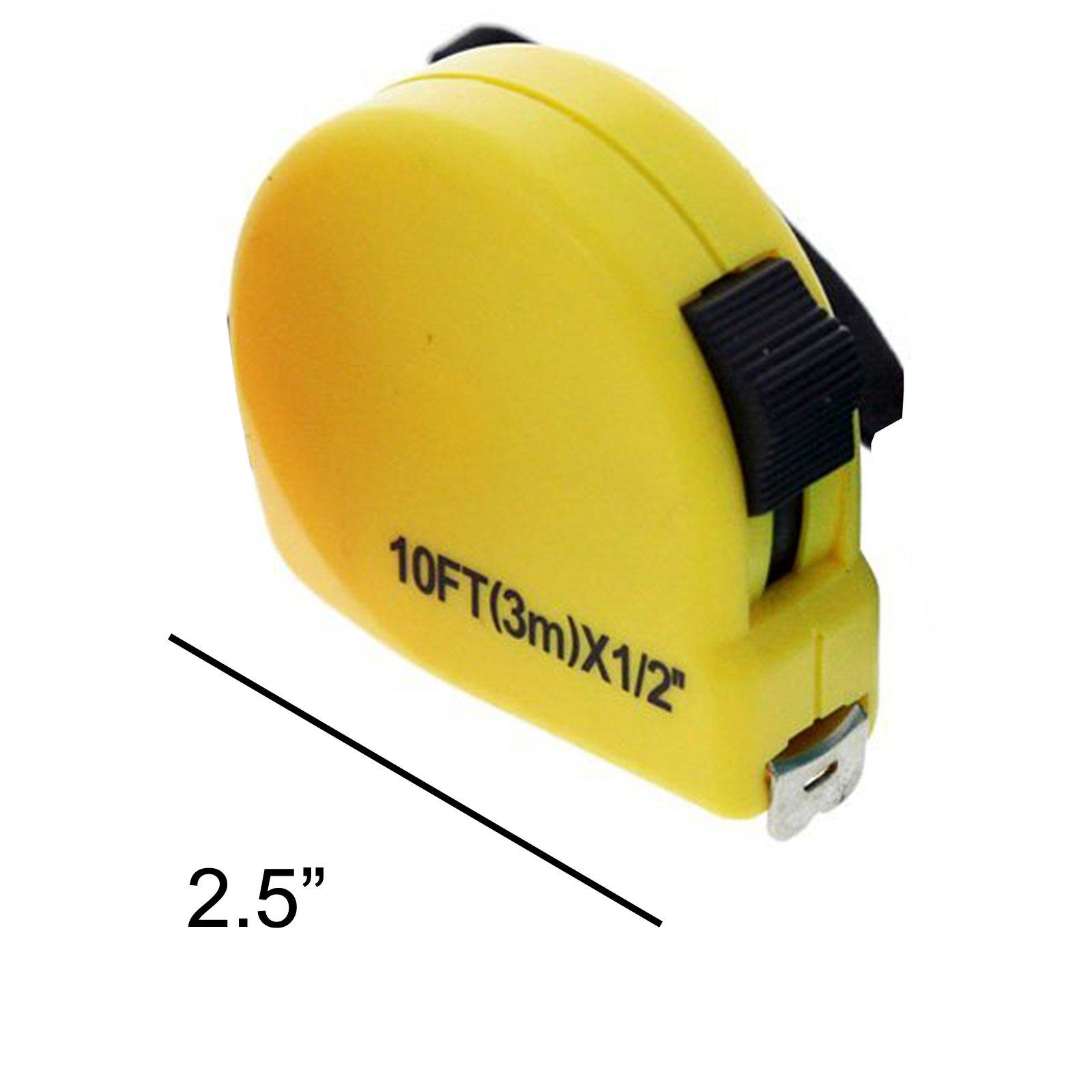 Universal Tool 10ft Measuring Tape Metric SAE 3 Meters Tape Measure - Yellow