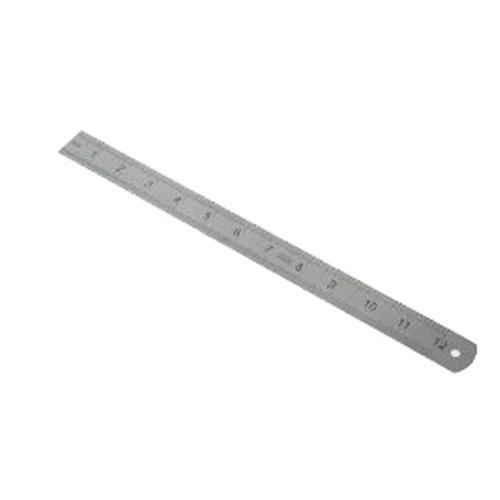 12 inch Stainless Steel Ruler Metric and SAE Measurements