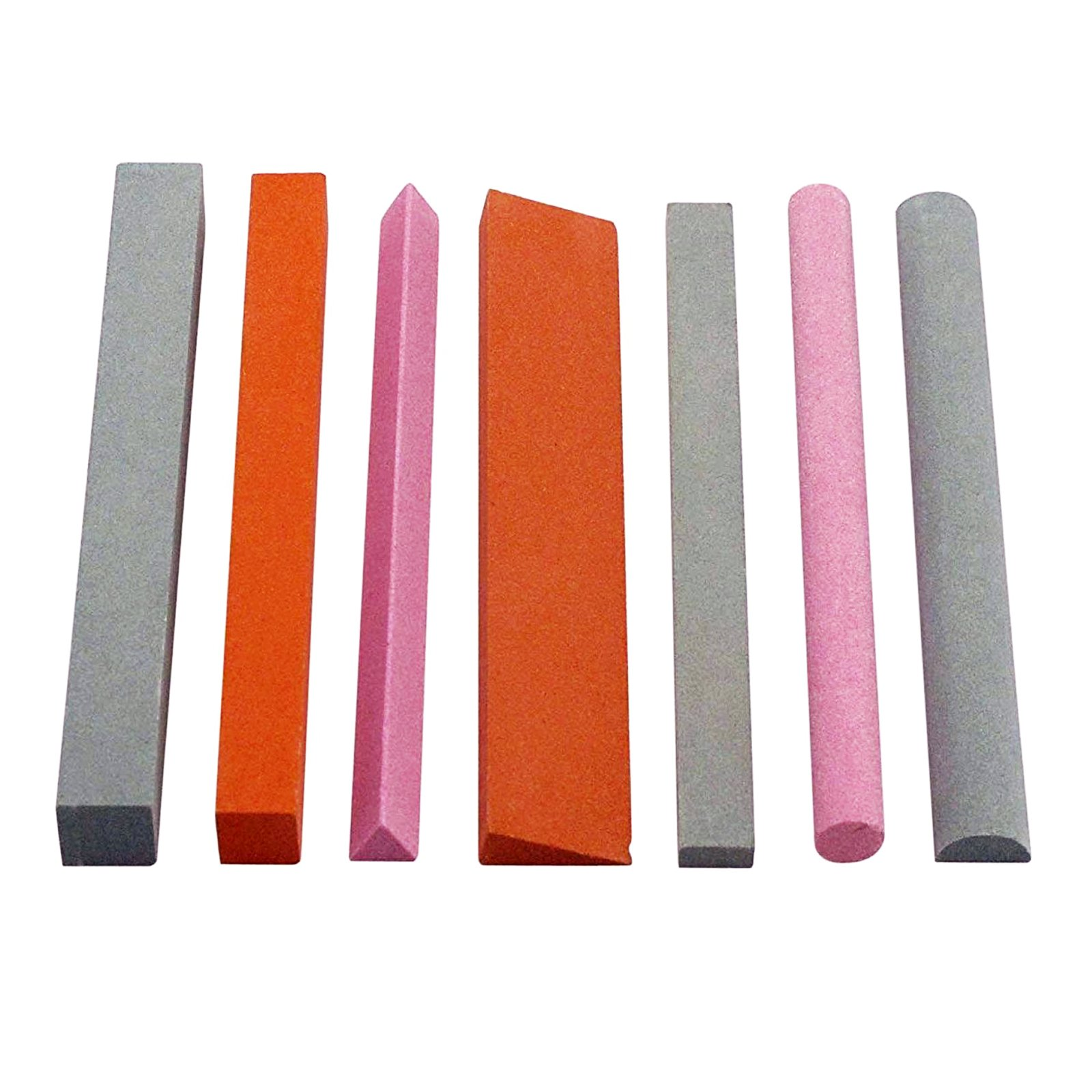 Universal Tool Sharpening Stone Set Variety Shapes Grits 180 6 Inch - 7pc
