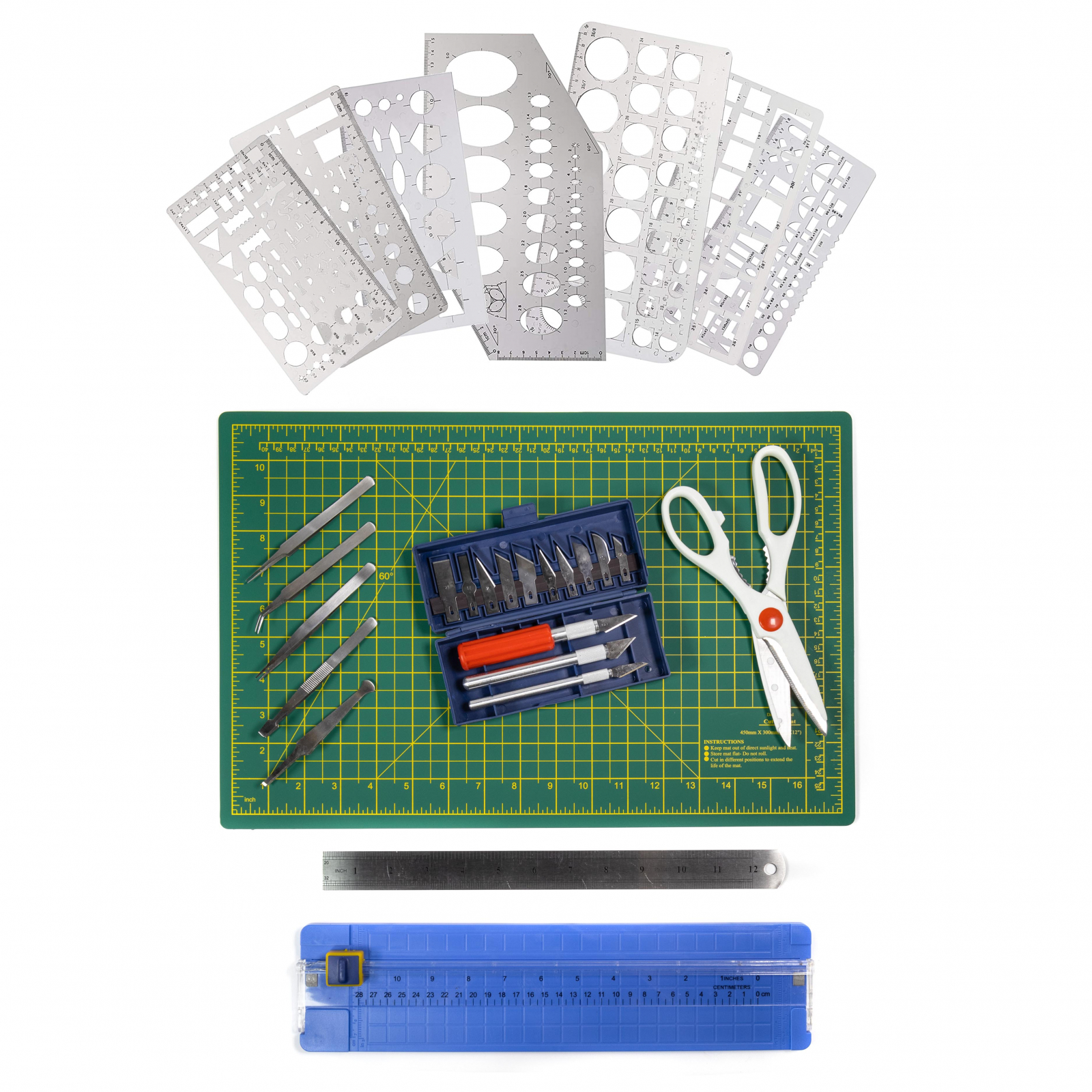 ToolTreaux Stationery Scrapbooking Supplies Crafts Kit, 26pc