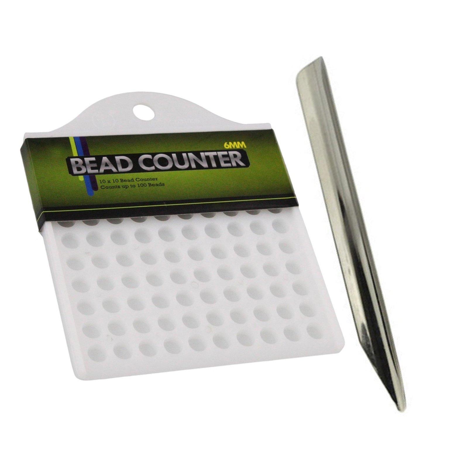 100 Count Bead Counter 6mm Diameter Jewelry Making Sorter & Bead Scoop Set