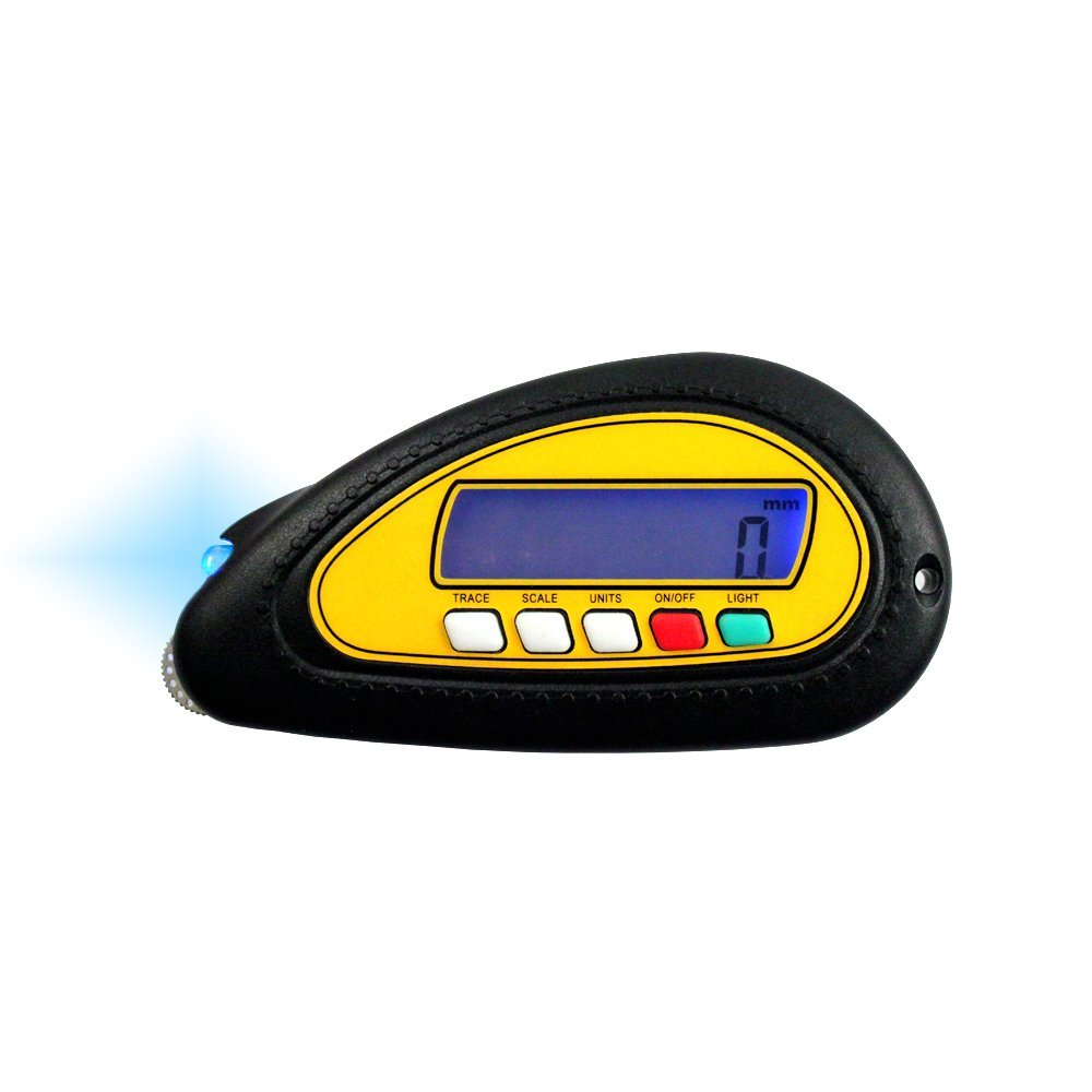 Multiple unit digital measuring wheel on any surface